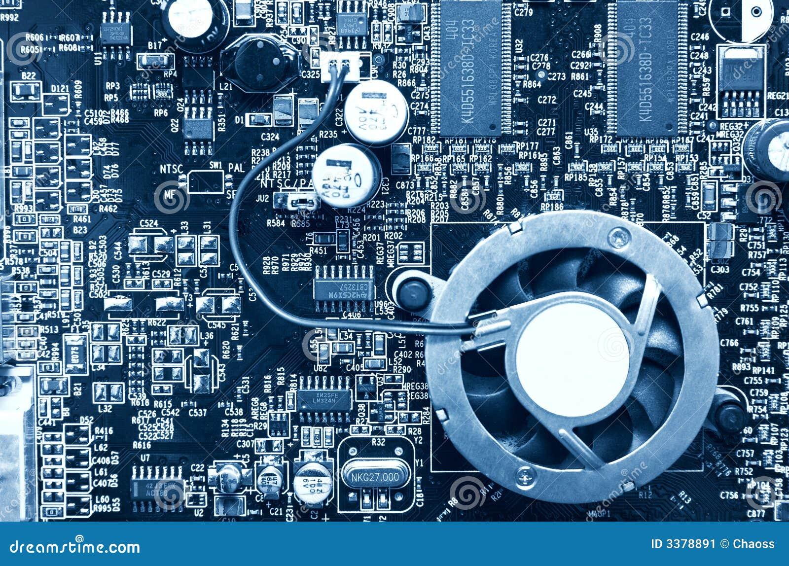 Opinión superior del chip de ordenador
