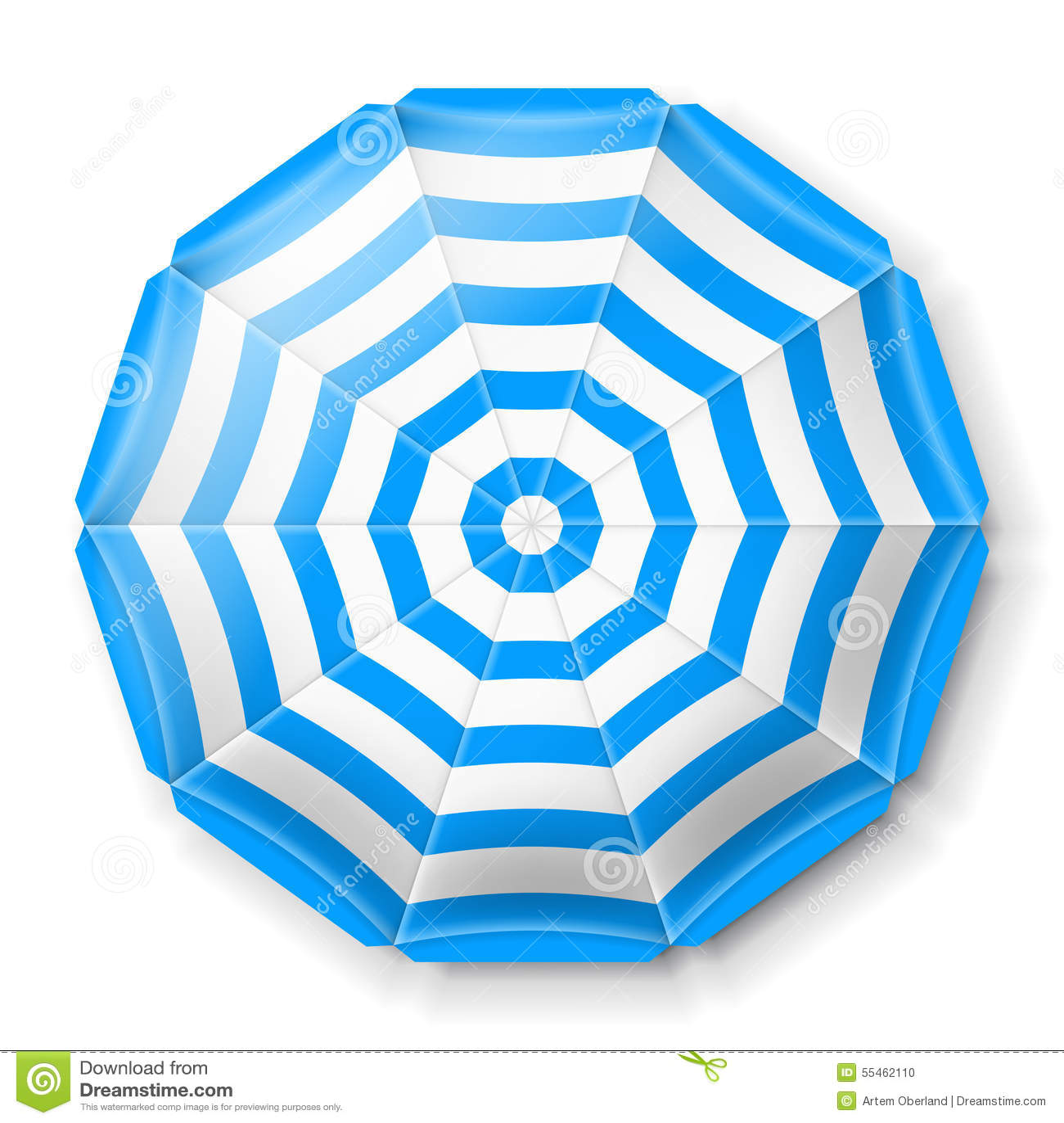 Opinión superior del parasol de playa