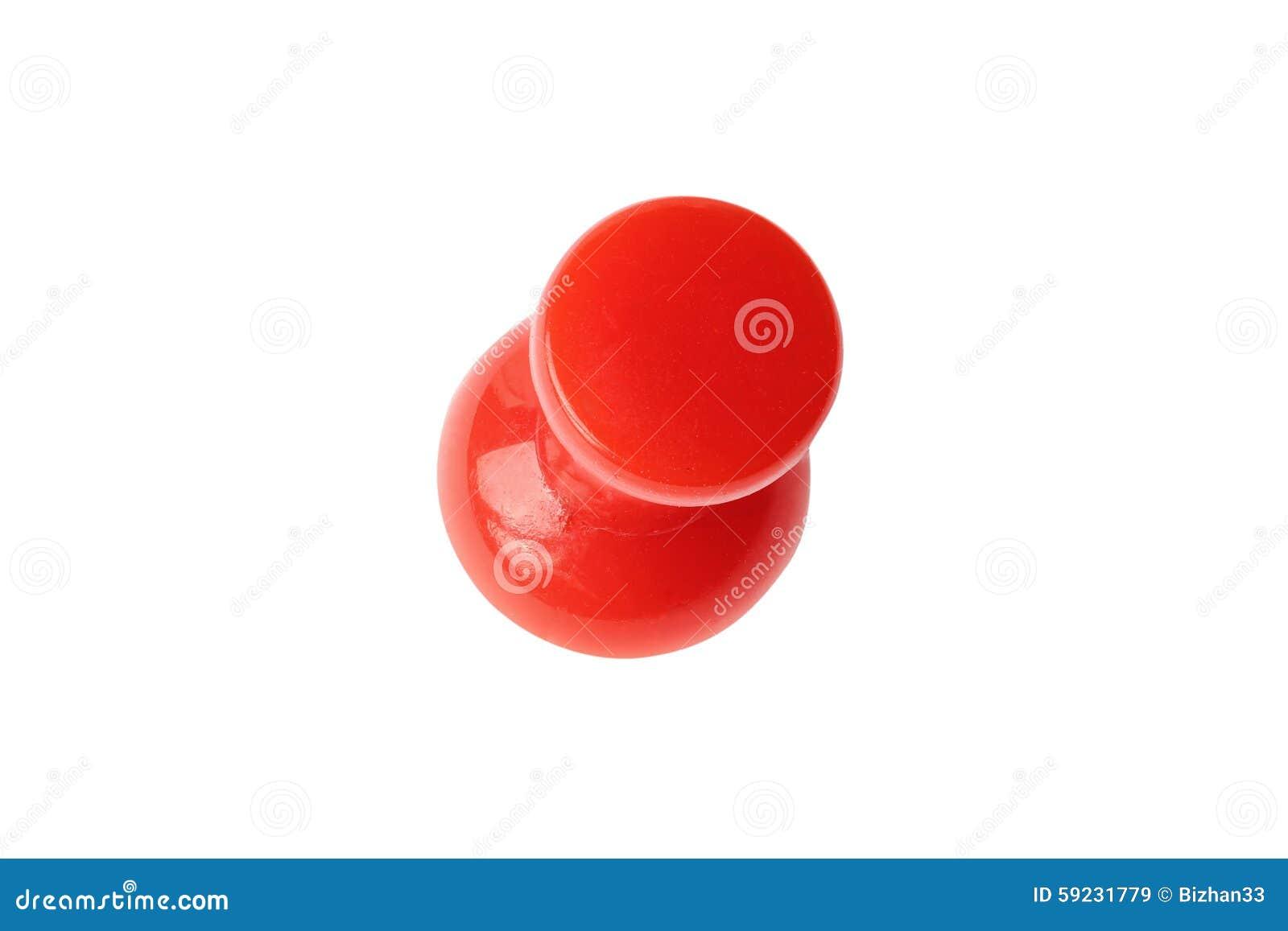 Download Opinión Superior Roja Aislada Del Perno De Dibujo Imagen de archivo - Imagen de botón, abrazadera: 59231779
