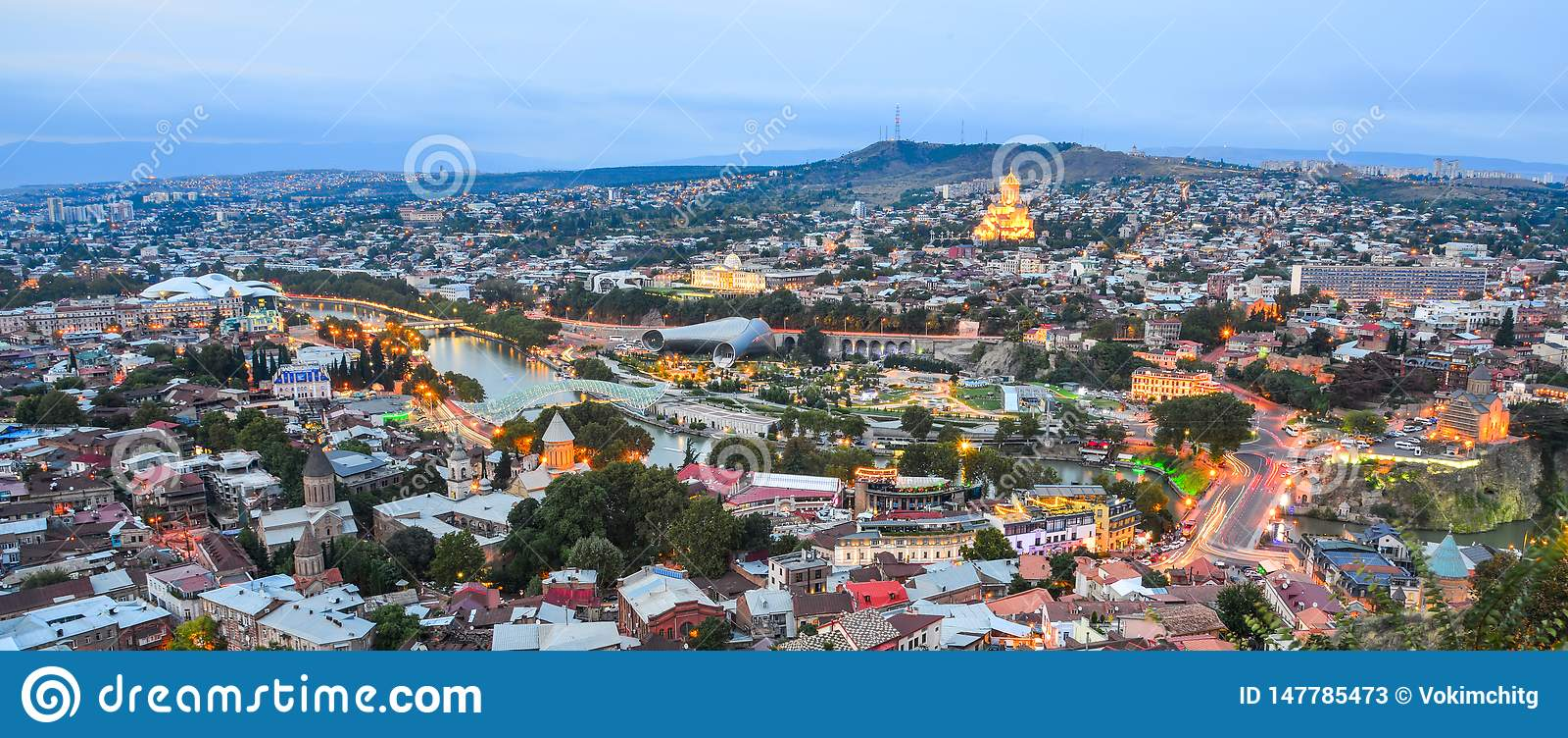 Opini?n de la noche de Tbilisi, Georgia