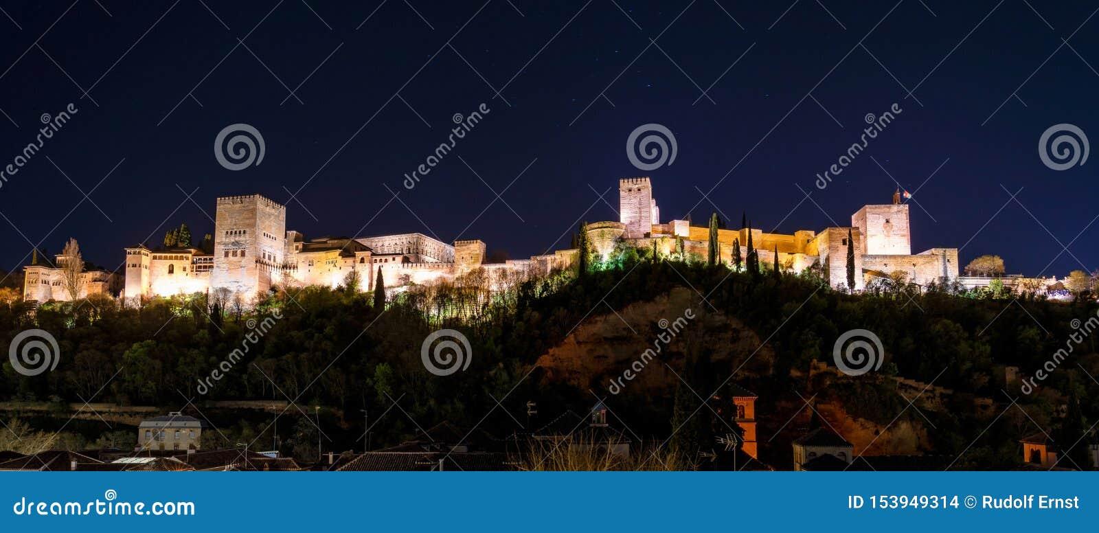 Opini?o Alhambra Palace em Granada, Espanha em Europa
