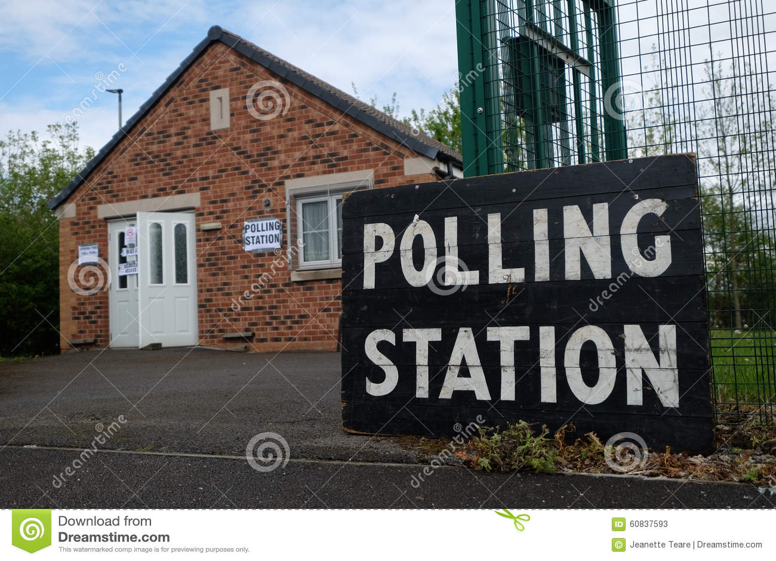 Opiniepeilingspost in het UK