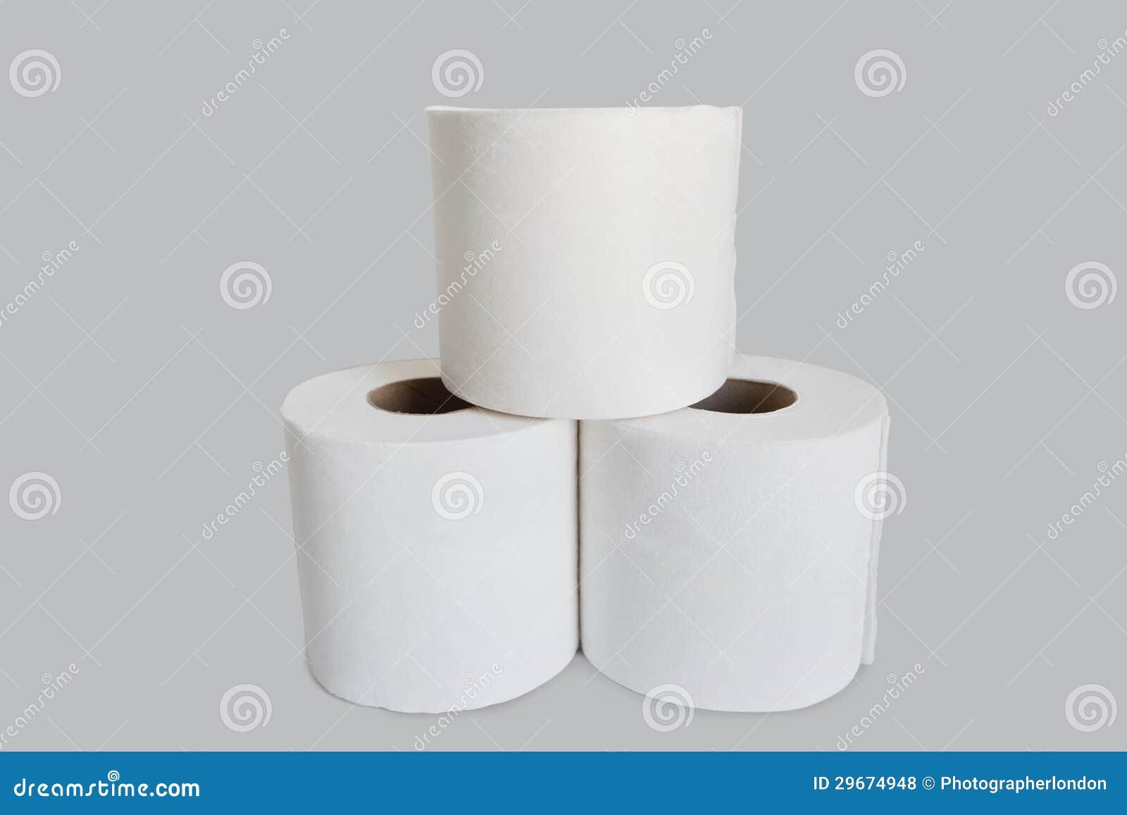 Opini n del primer de la pila del papel higi nico en el for Accesorio para papel higienico