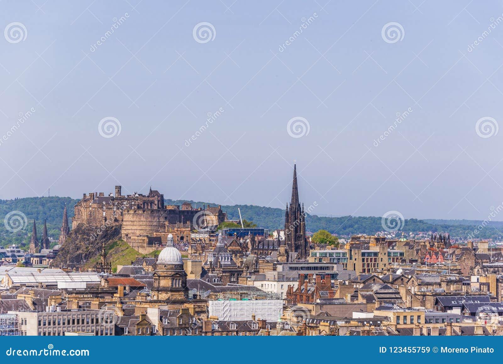 Opiniones aéreas de Edimburgo