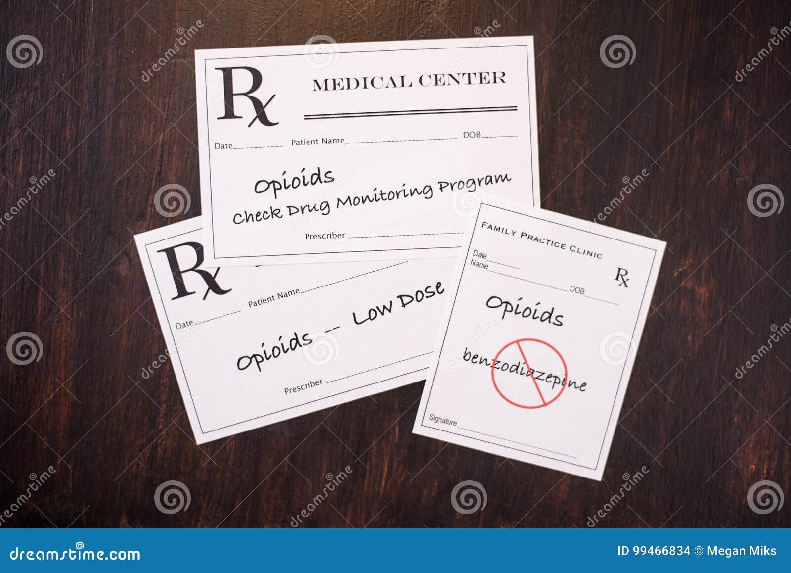 Opioid-Verordnungen mit vorschreibenden Warnungen NEF