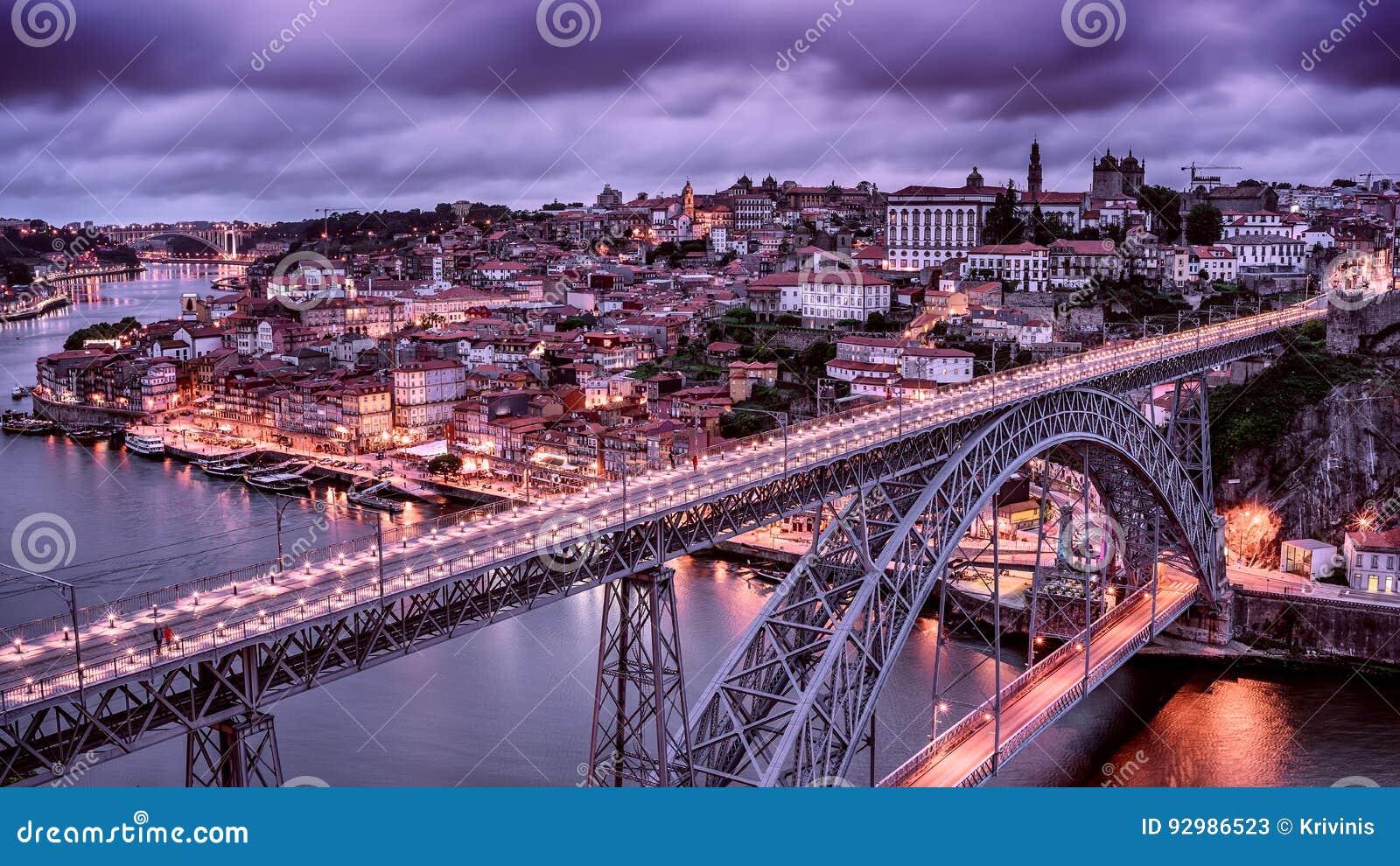 Oporto, Portugal: el puente de Dom Luis I y la ciudad vieja