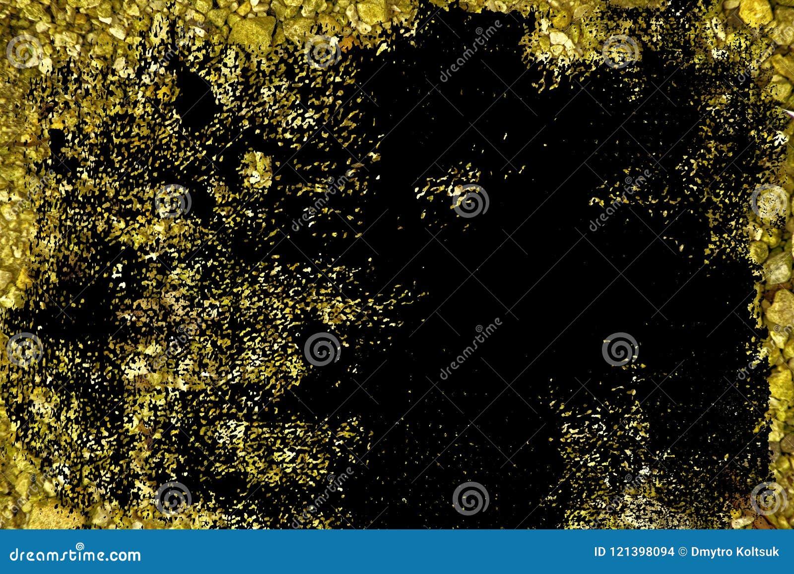 Oppervlakte van de Grunge de ultra gele Kiezelsteen, steentextuur of rotsachtergrond, gemalen achtergrond