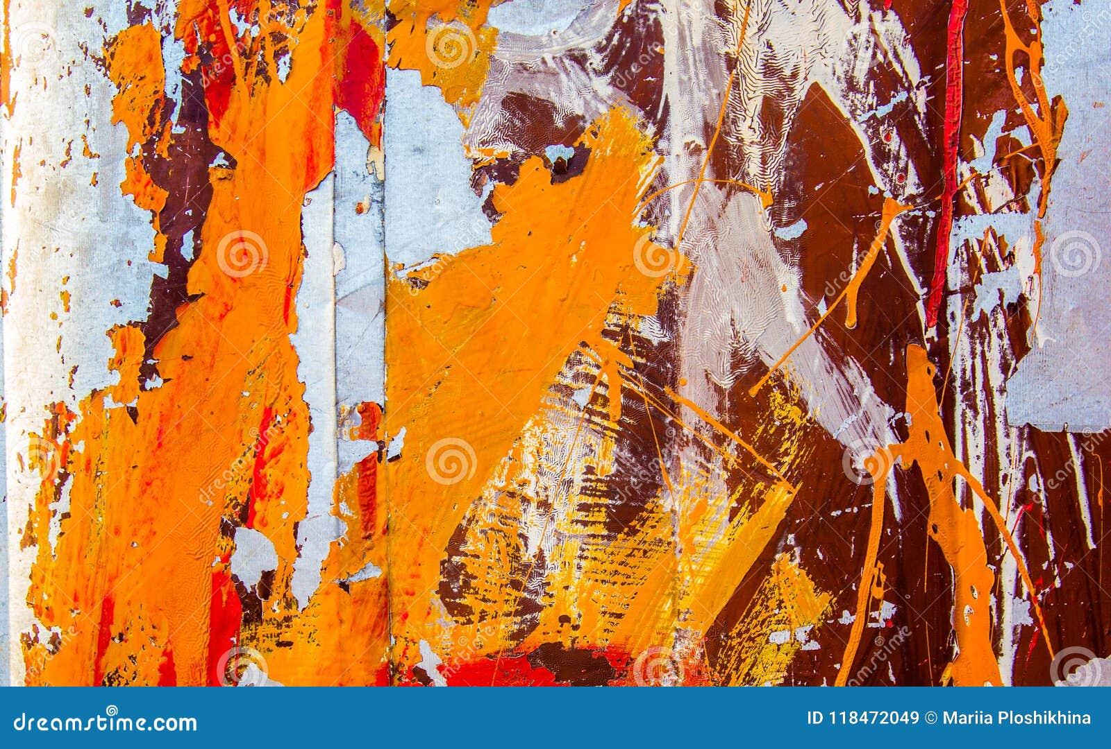 Oppervlakte van roestig ijzer met oude geschilderde textuur