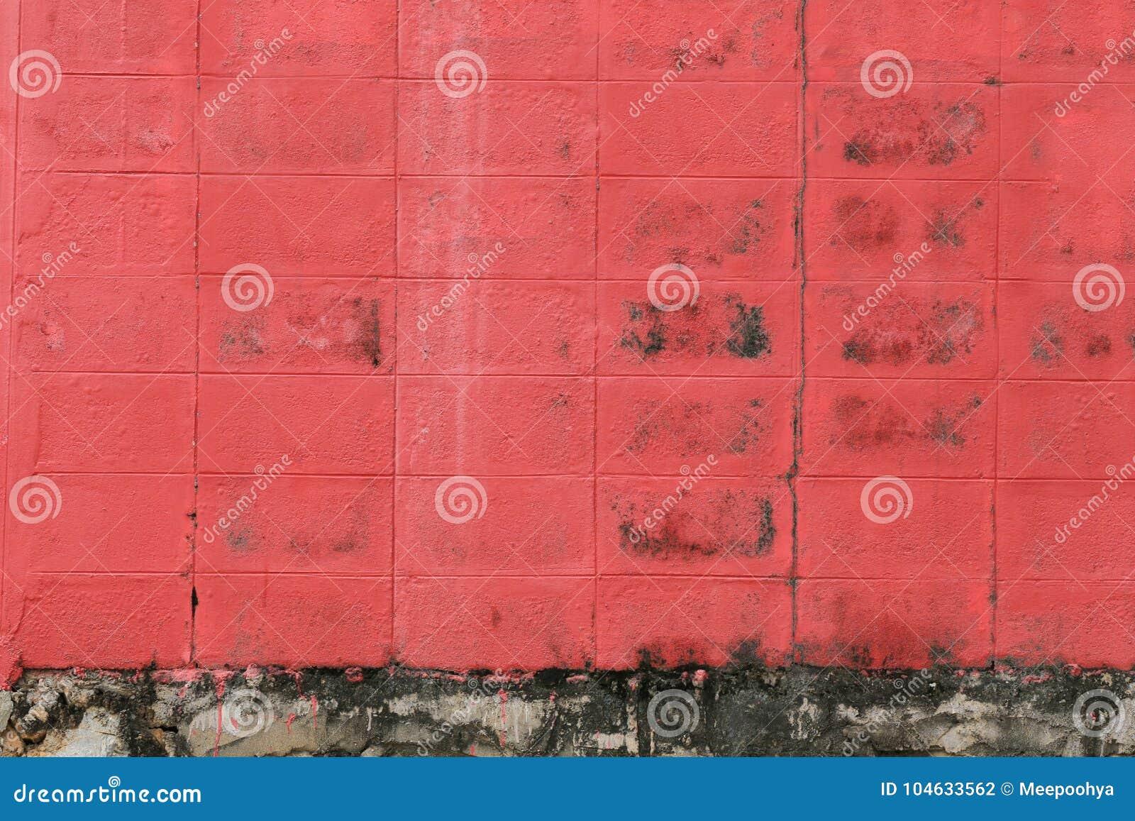 Download Oppervlakte Van Rood Oud Doorstaan Beton Stock Foto - Afbeelding bestaande uit leeg, retro: 104633562