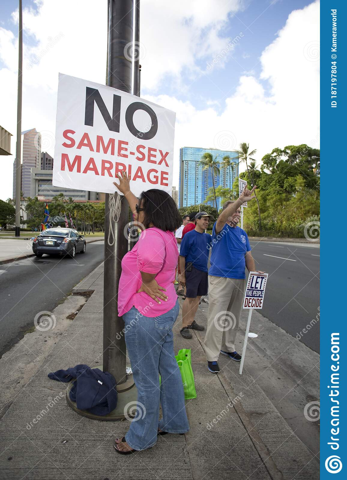 No Same Sex Marriage editorial stock image. Image of rally