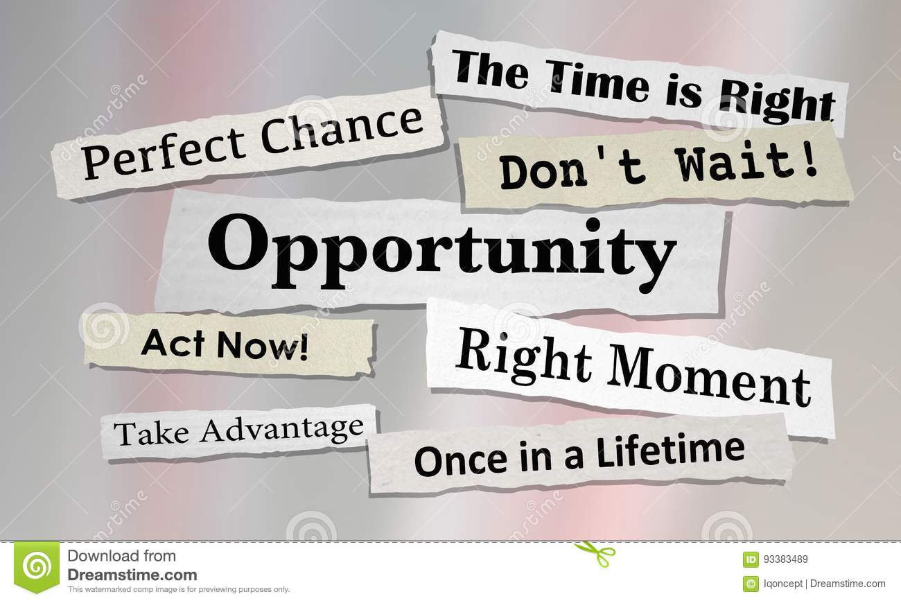 Opportunities Chance for Success News Headlines