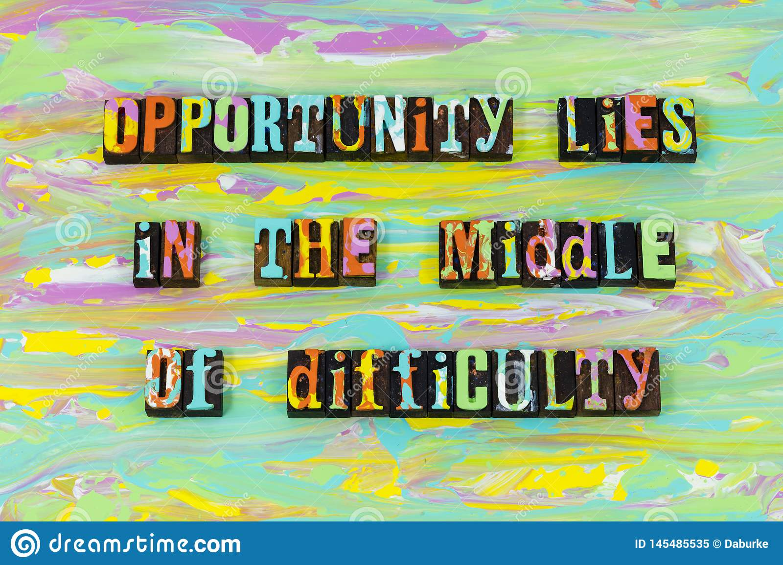 Opportunity Middle Difficulty Challenge Hard Work Typography