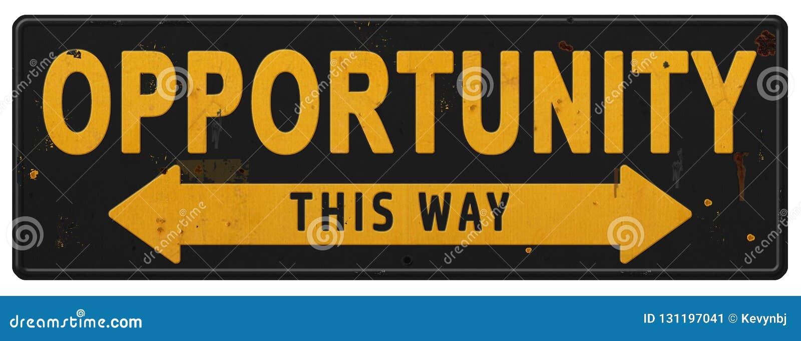 Opportunity Sign Logo Art Business Possibilities Goal Accomlishment