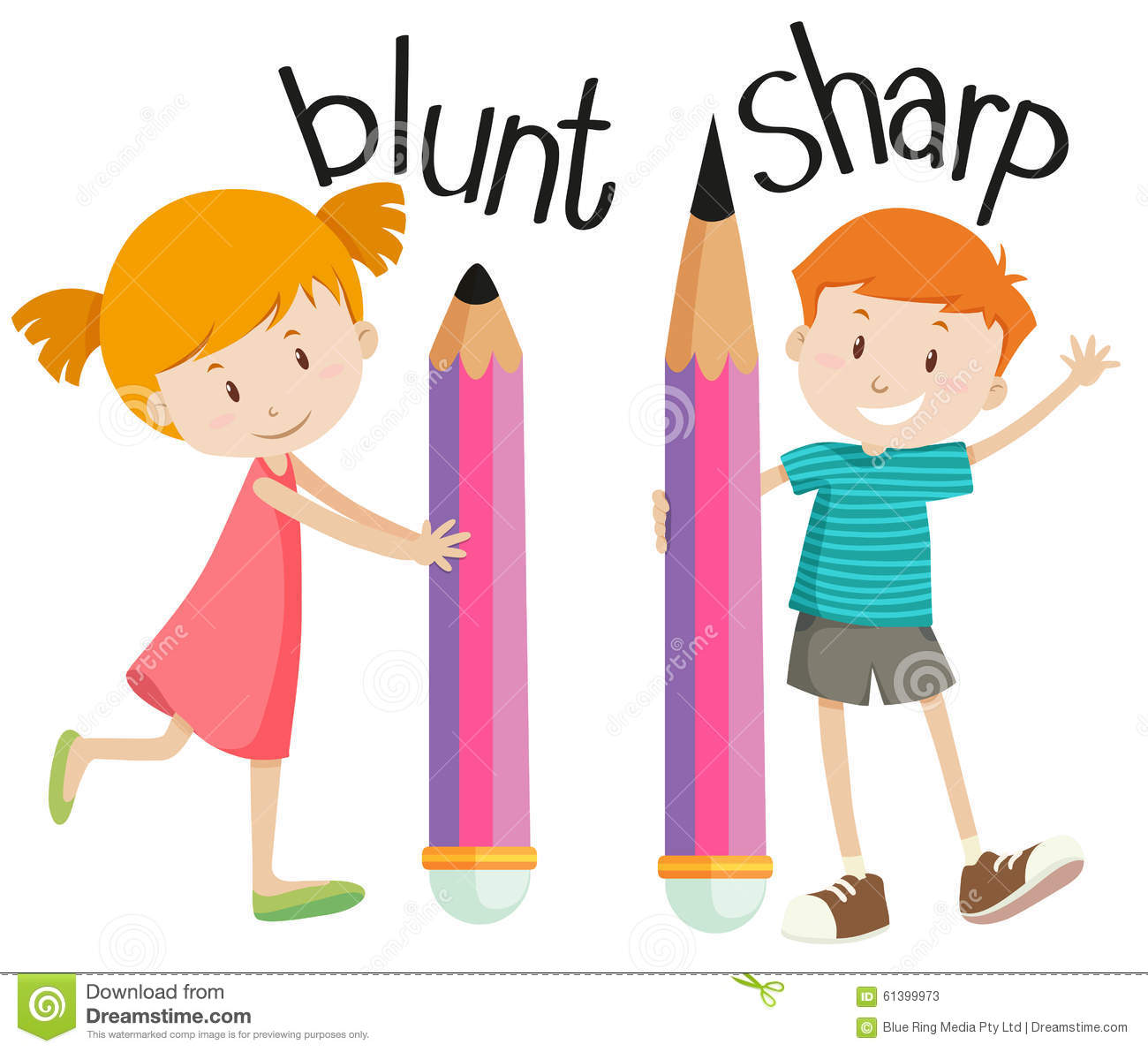 Worksheet Opposite Objects opposite adjectives soft and hard stock vector image 63434118 with blunt sharp photos