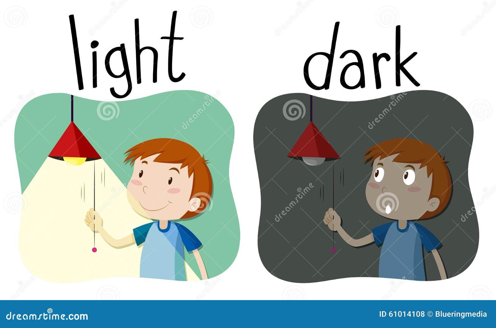 opposite adjectives light and dark stock illustration clipart ringworm clipart ring image