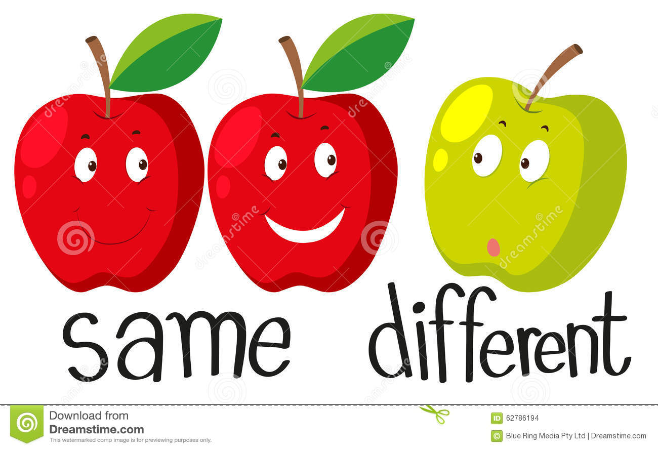4f26d6c70c7a Opposite Adjectives With Same And Different Stock Vector ...