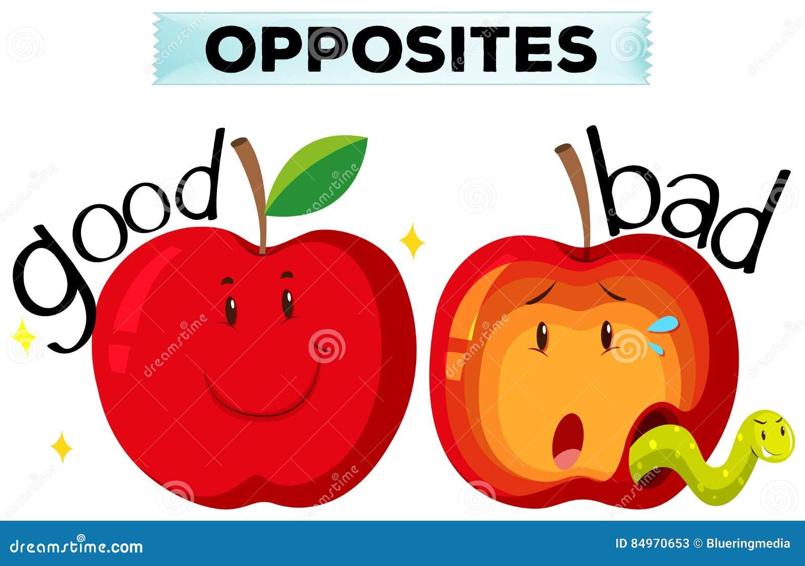 bad and good apple stock photo cartoondealer   16139712