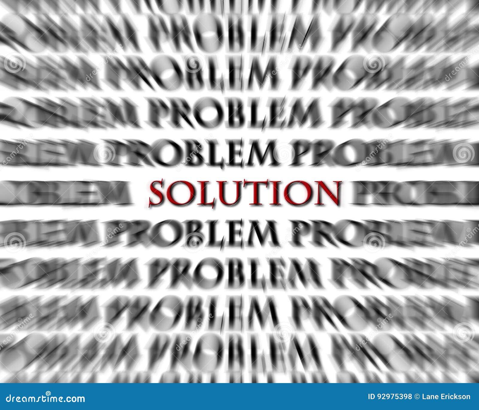 Opposti rossi neri di parola della soluzione e di problema