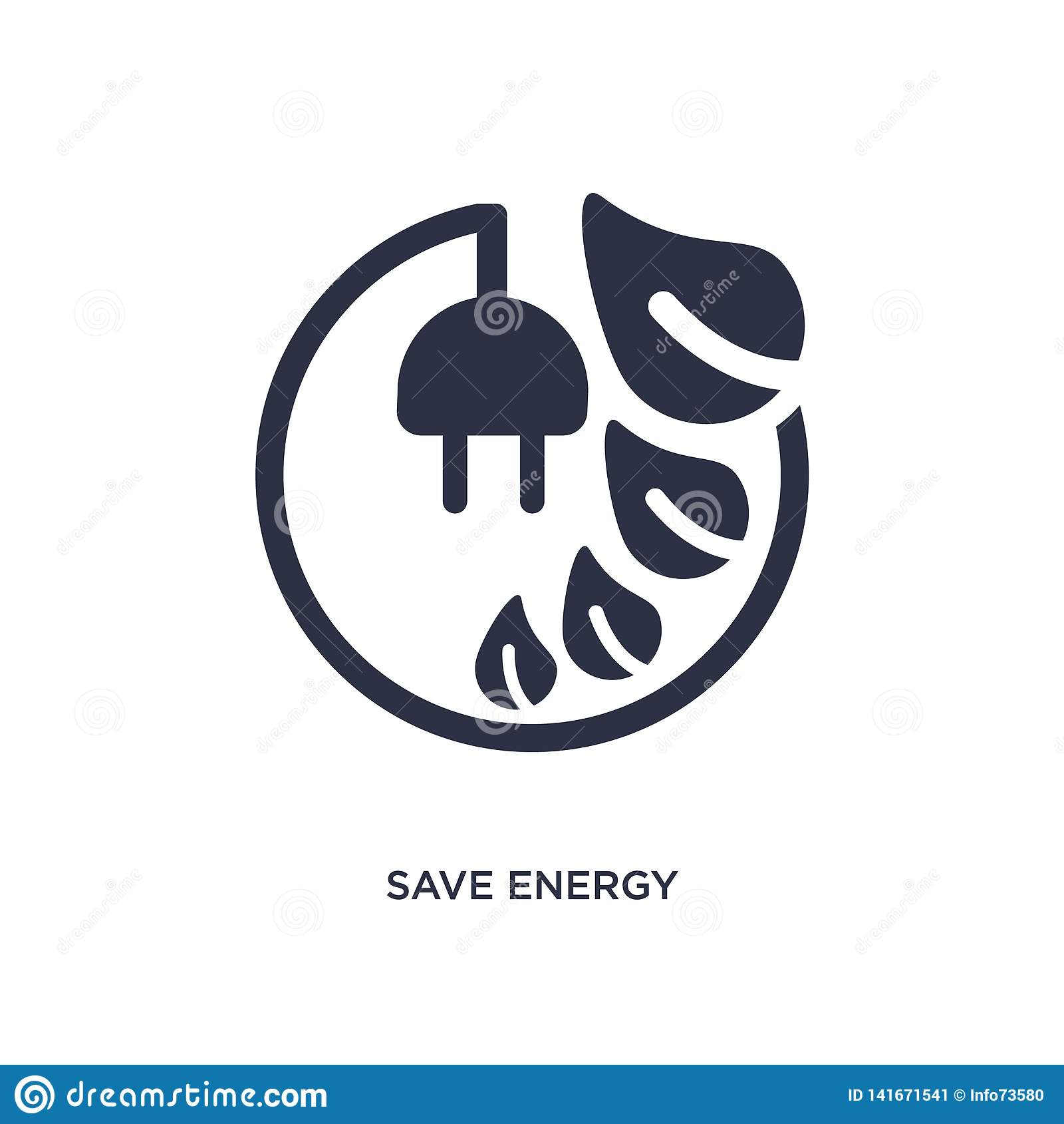 Oprócz energetycznej ikony na białym tle Prosta element ilustracja od ekologii pojęcia
