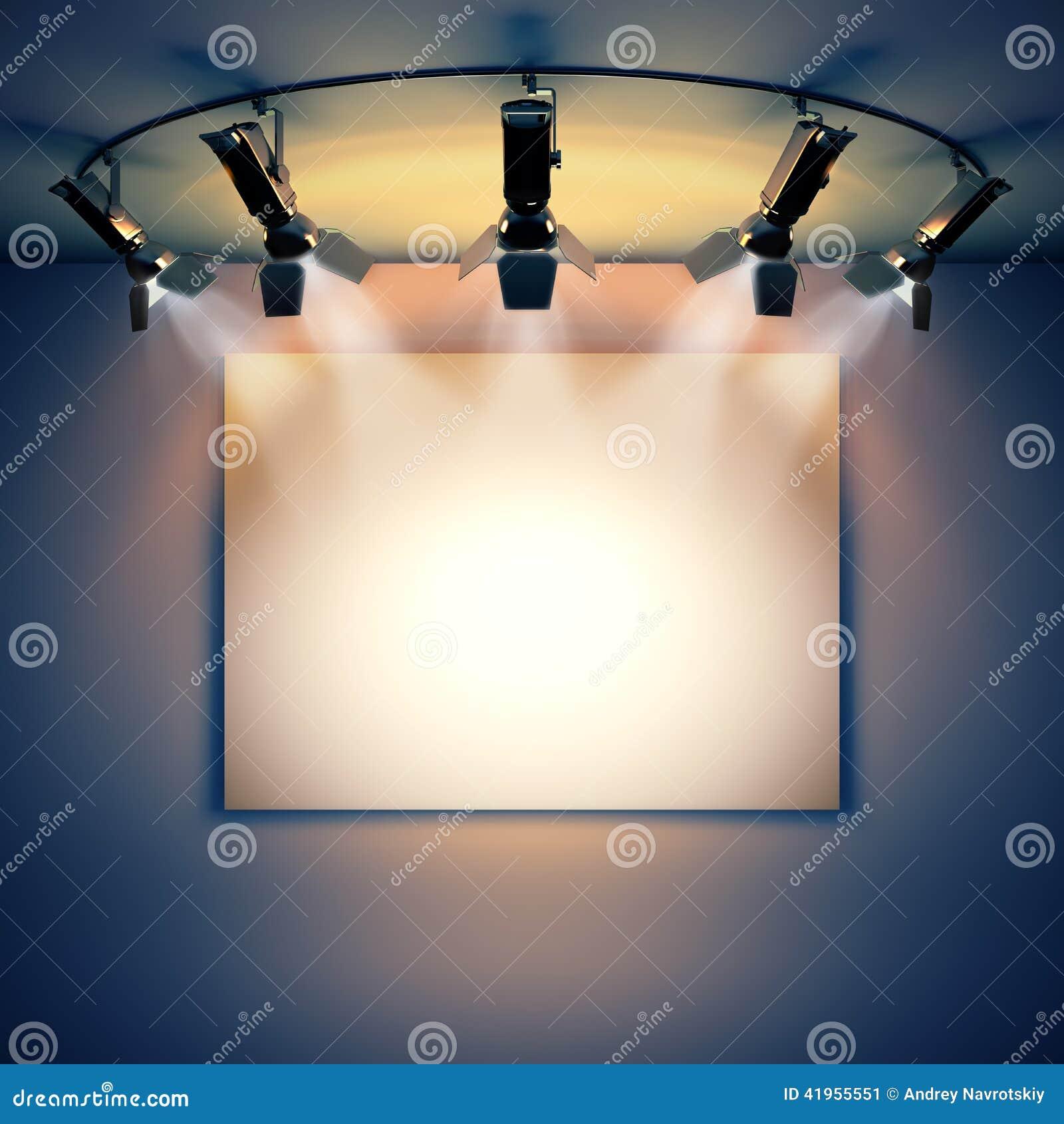 Opróżnia obrazek iluminującego światłami reflektorów