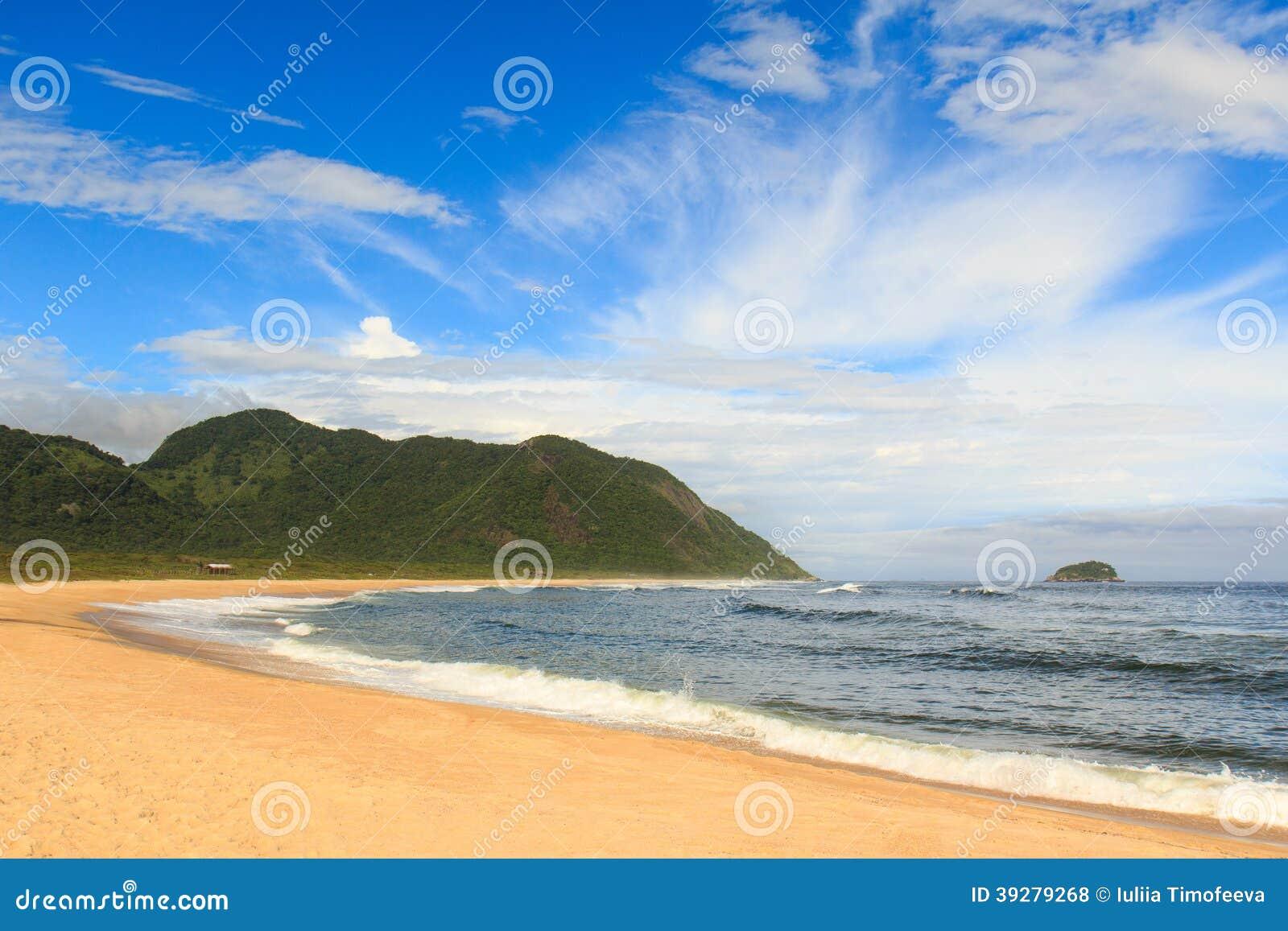 Opróżnia plażowego Grumari, Rio De Janeiro