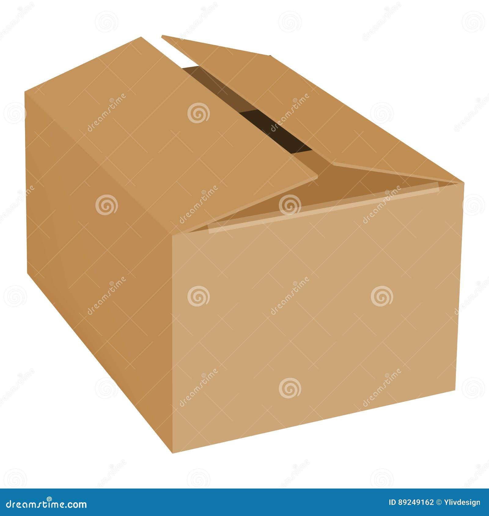 Opróżnia pudełkowatego mockup, realistyczny styl