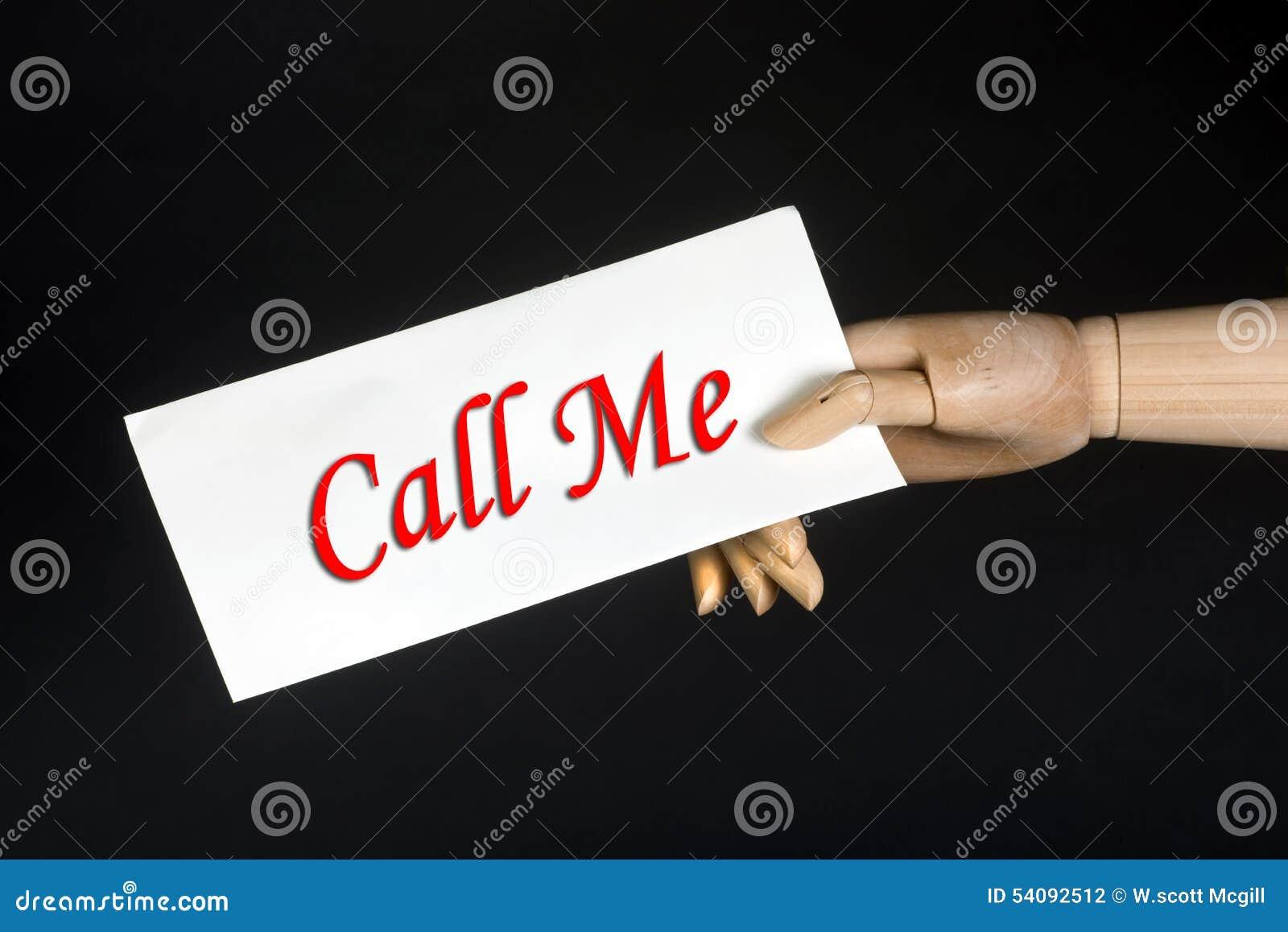 Oproepen me?
