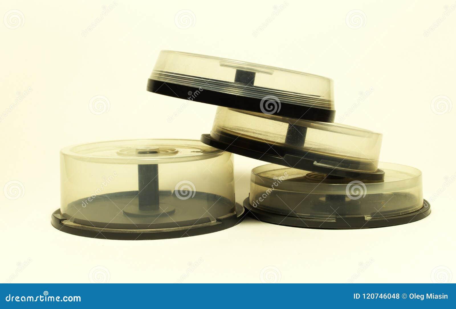 Opslag met spindel voor compact disc kleine capasitydozen