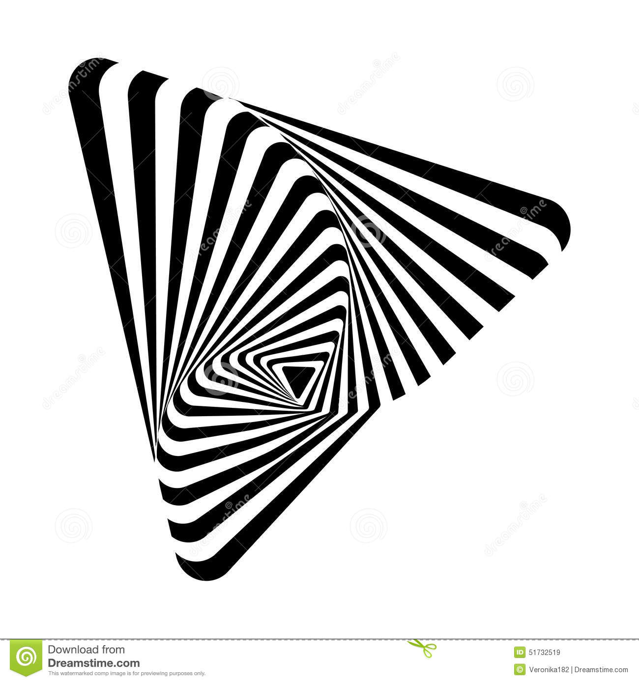 Optical art stock vector image of style wallpaper for Black and white shapes