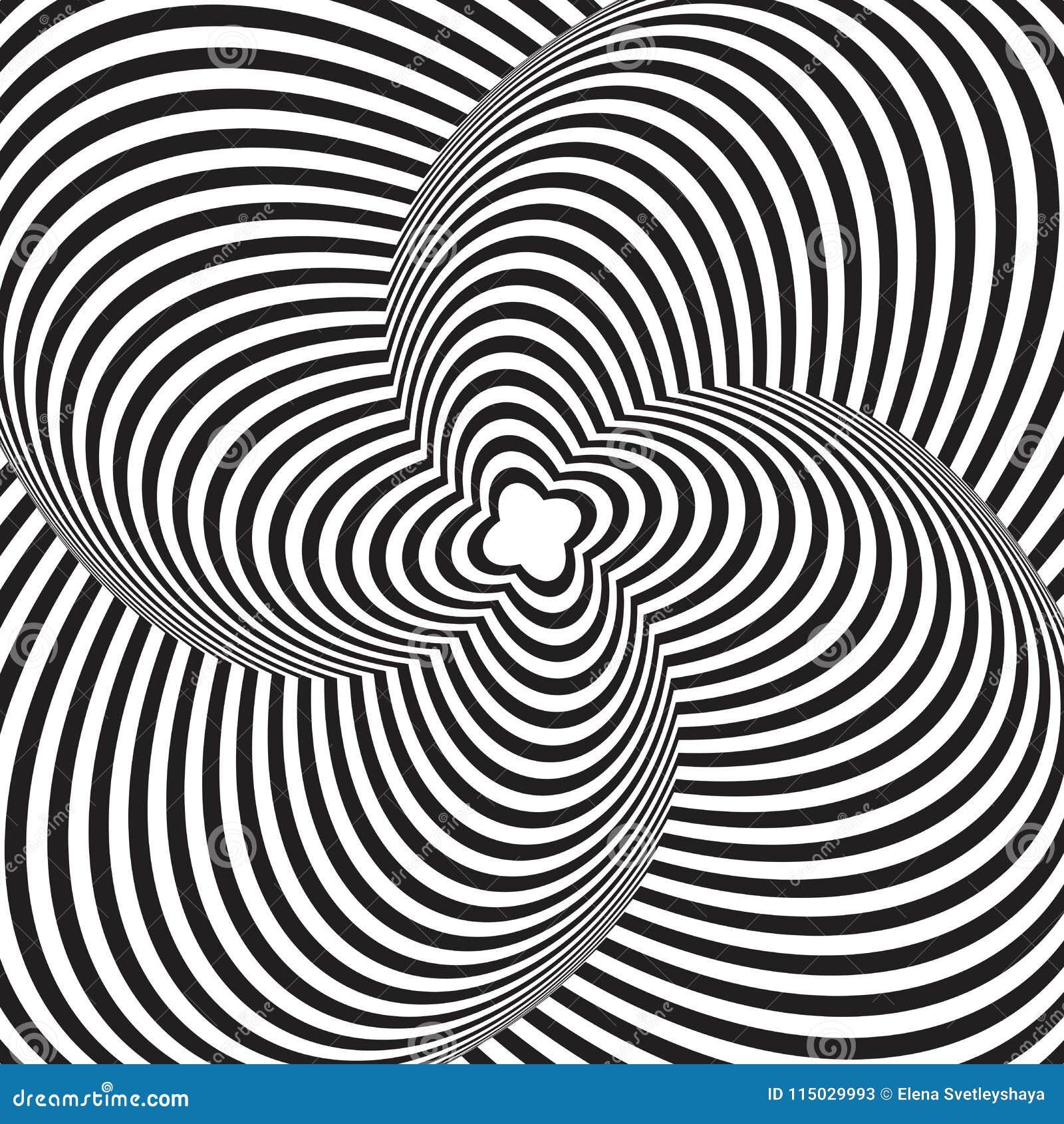 optical art illusion d background modern geometric monochrome vector pattern design wallpaper wrapping fabric backdrop print 115029993