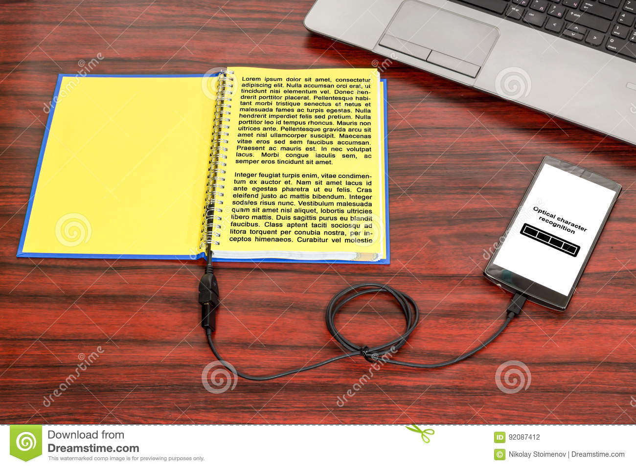 Download Optical Character Recognition Concept Stock Photo