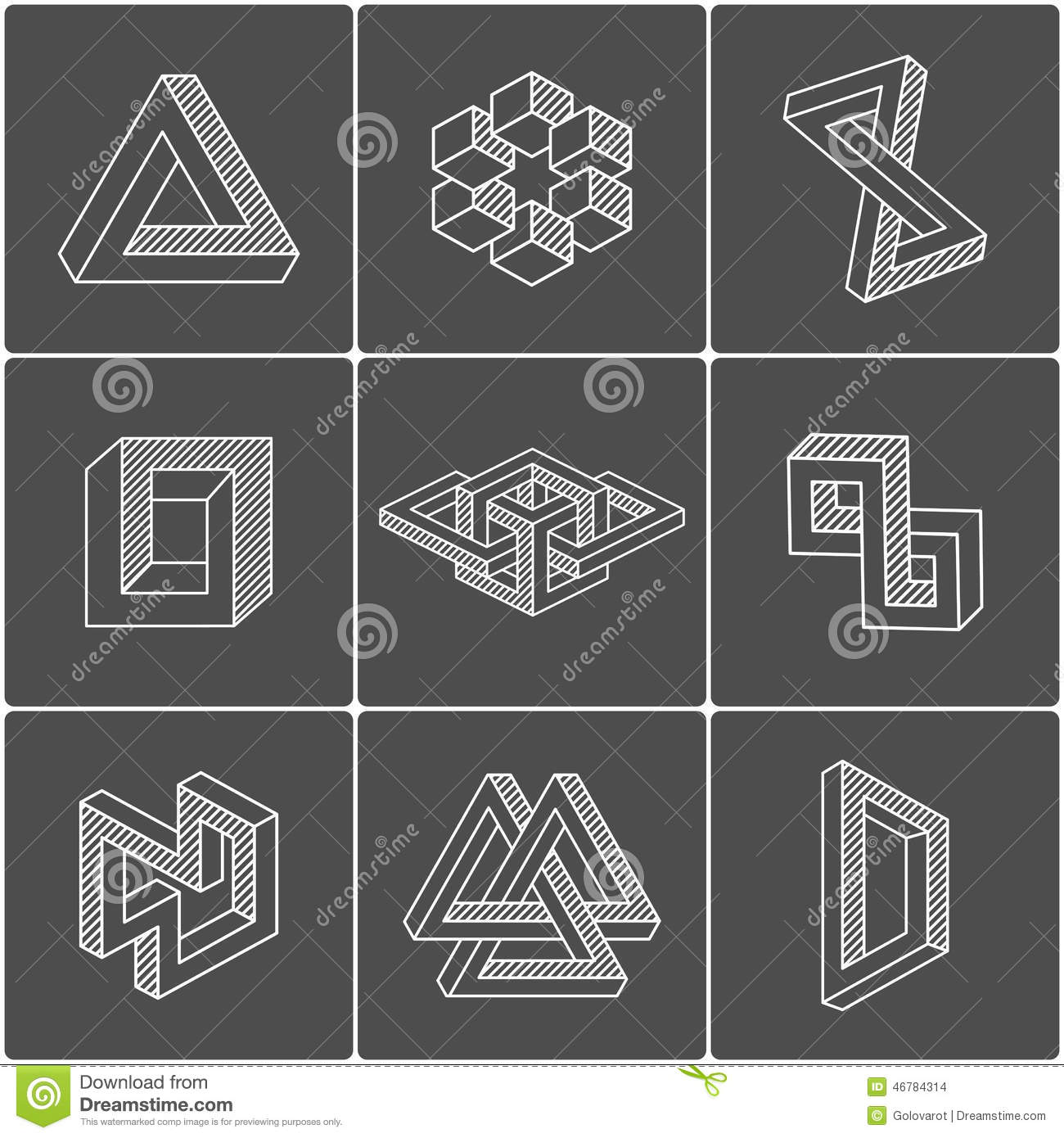 how to draw optical illusion shapes