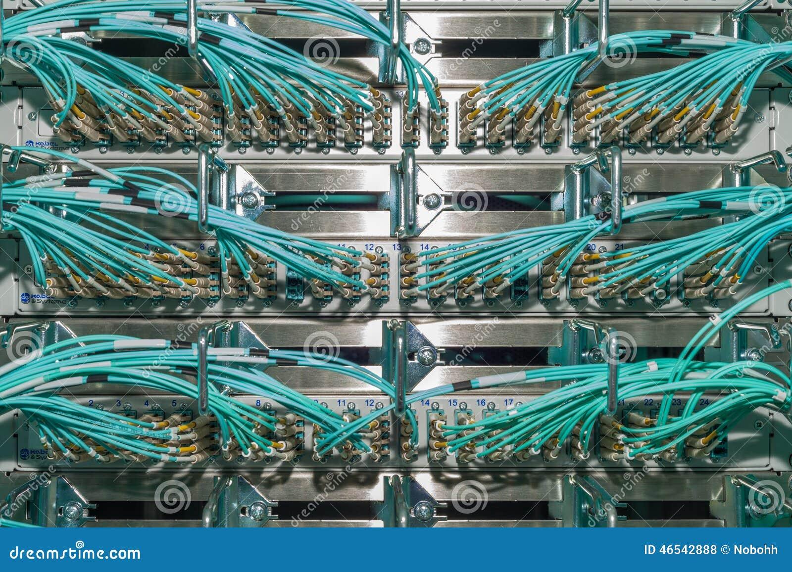 Optical Patch panel in a data center für Cloud Services