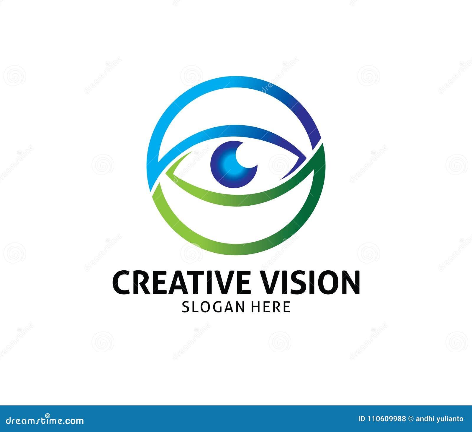 6bcd34a4476 Optical Technology Eye Future Vision Vector Logo Design Stock ...