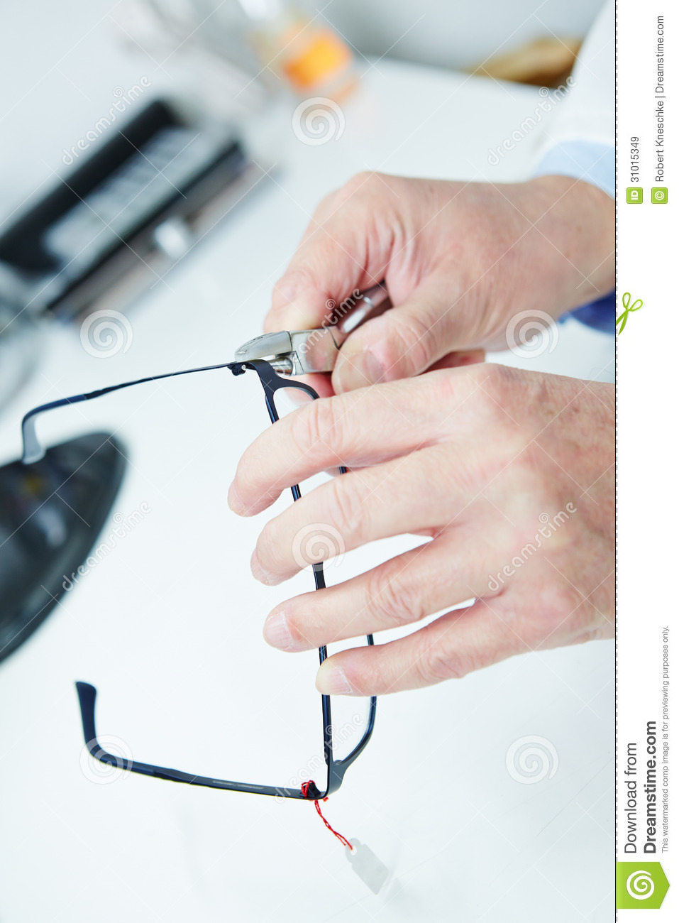 Optician Fixing Glasses Royalty Free Stock Images - Image ...