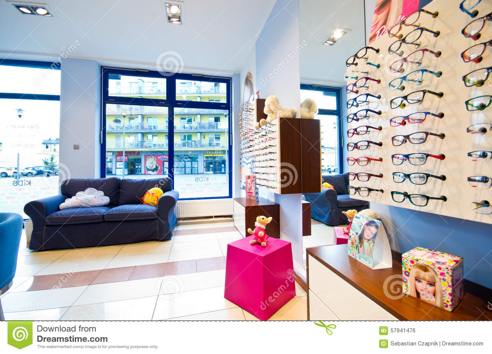 Optician s salon for children s glasses