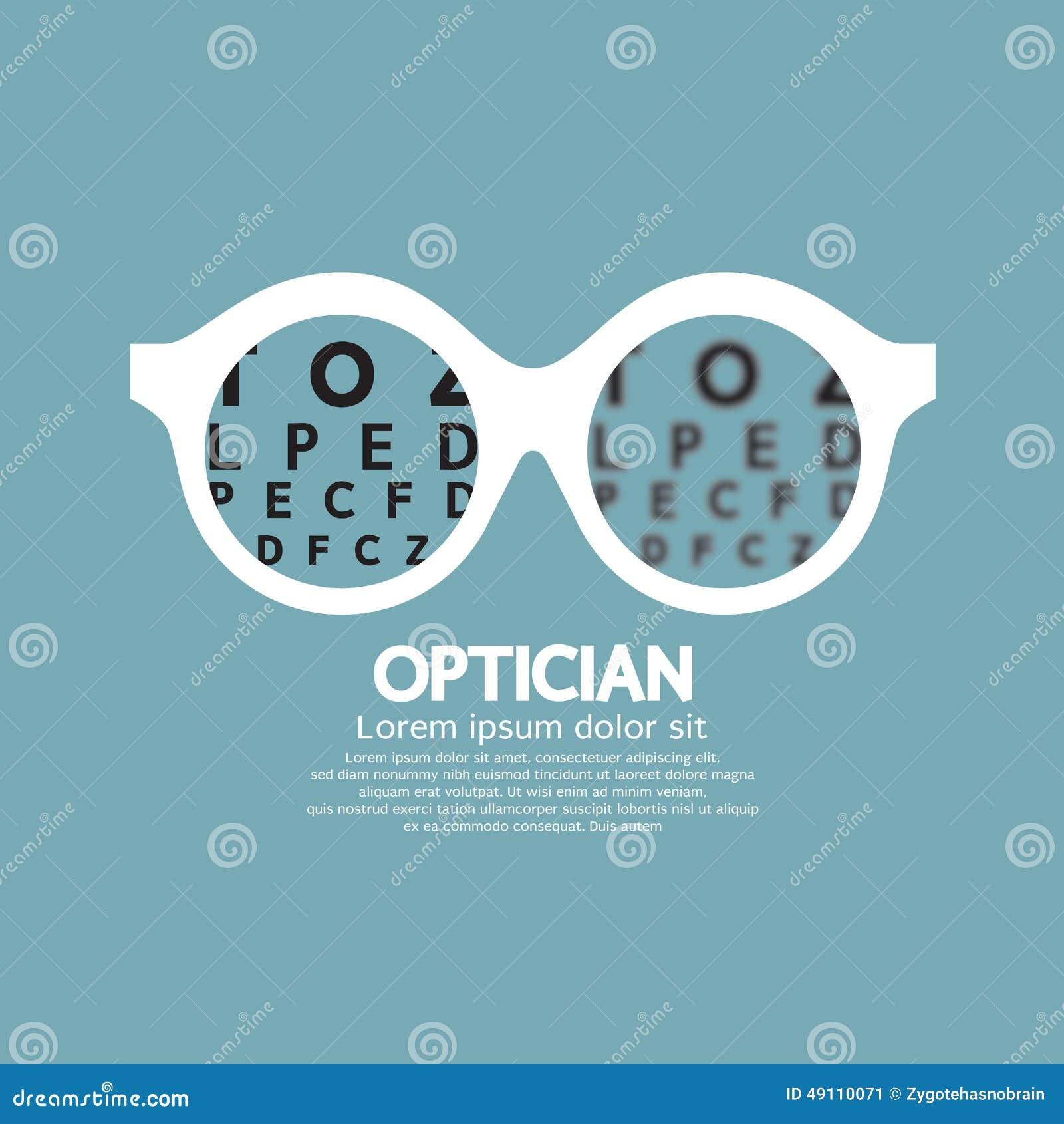 Opticien, vision de vue illustration de vecteur