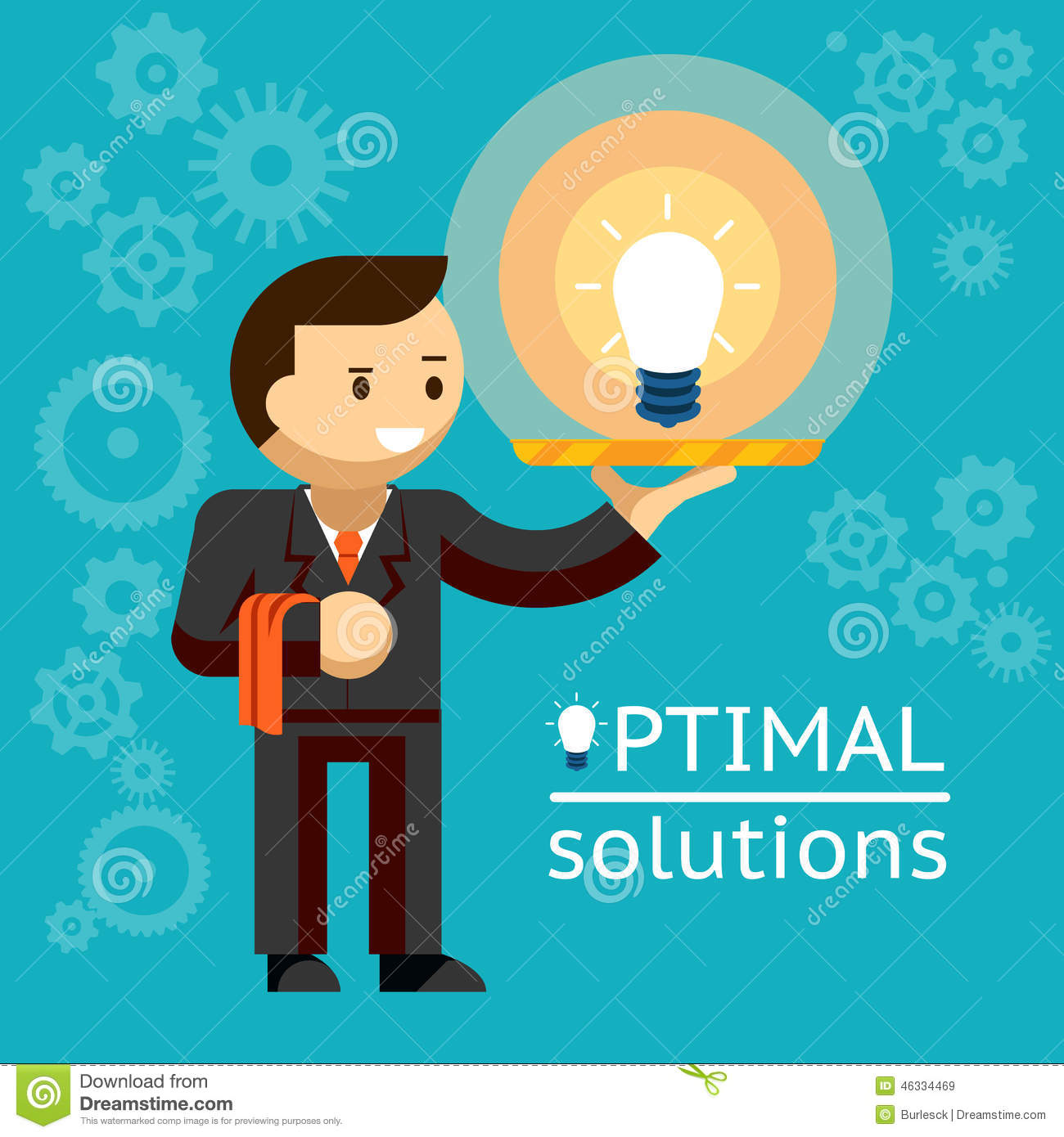 Optimal Solutions Concept Stock Vector. Illustration Of