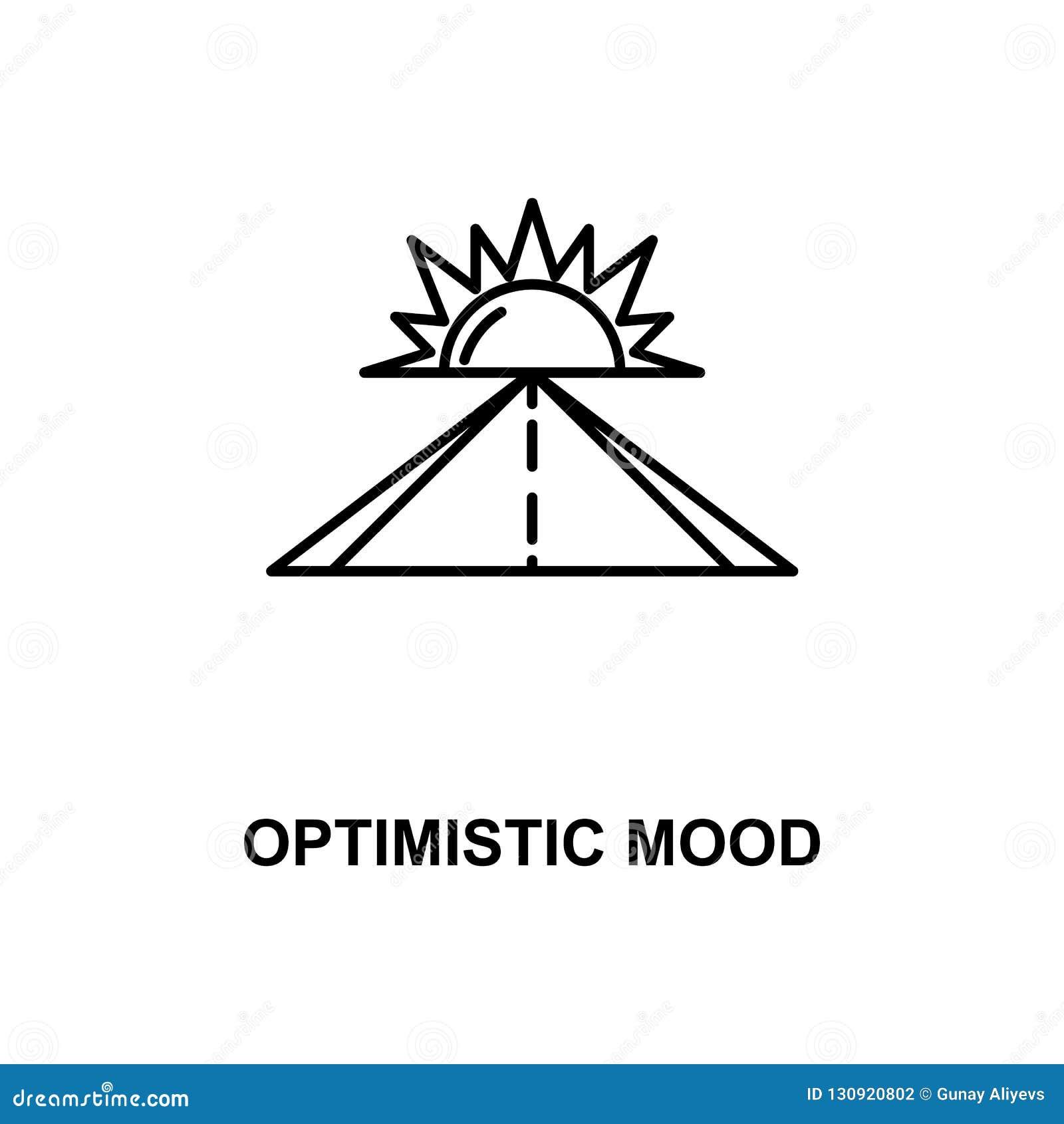 Optimistische Stimmungslinie Ikone