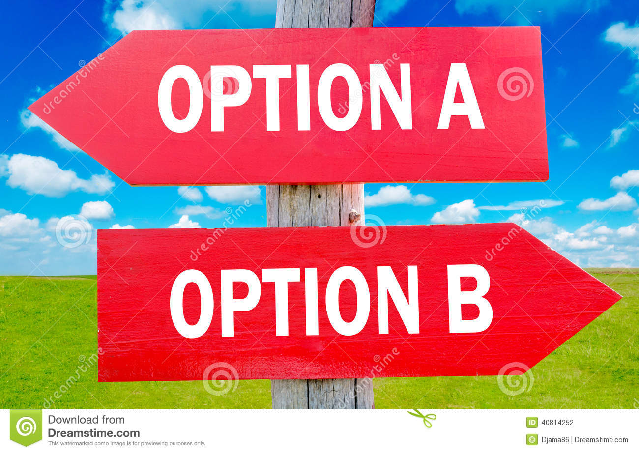 Image result for OPTION A & B .