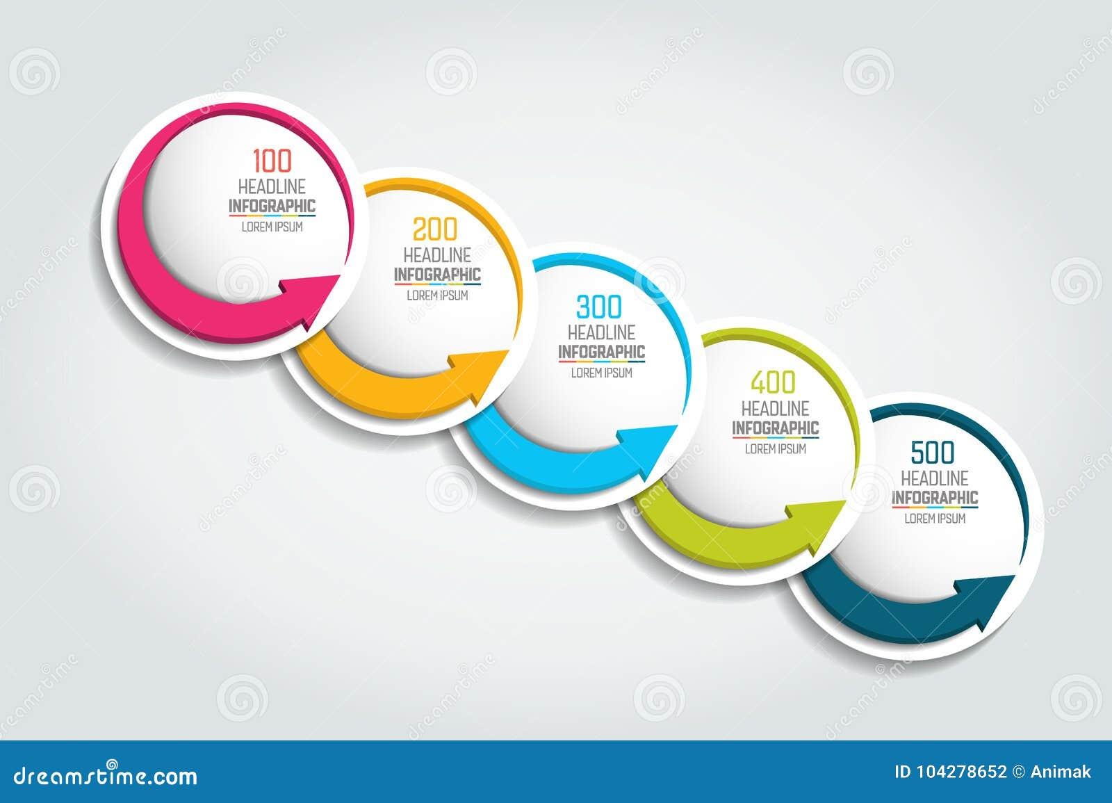Option chart, scheme, diagram, timeline. 5 Infographic template.