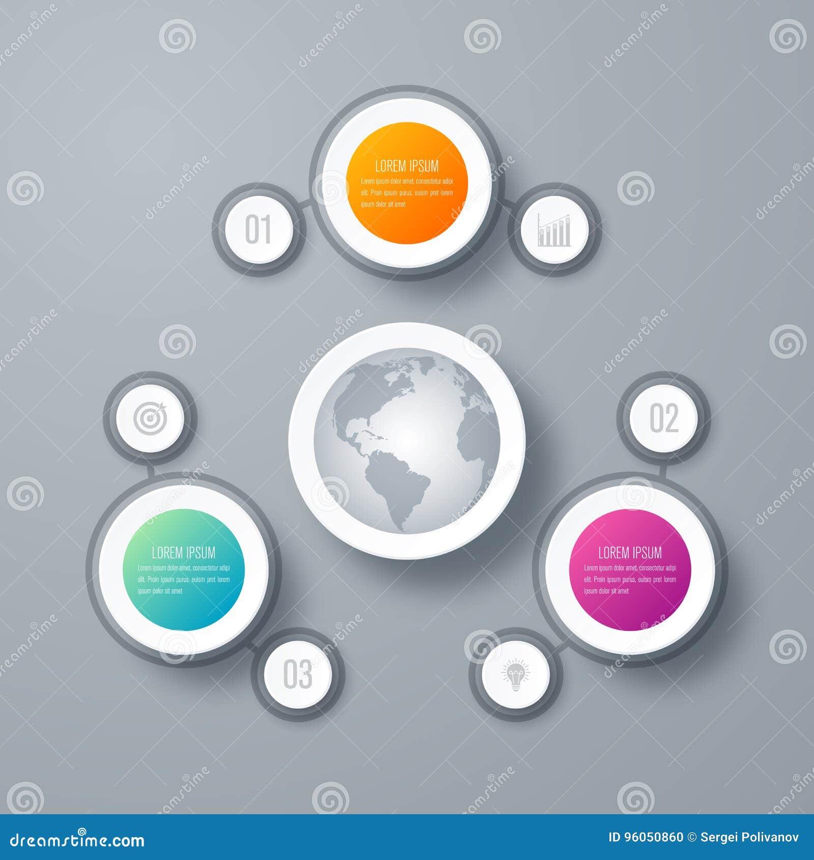 Options du calibre 3 d Infographics avec le cercle