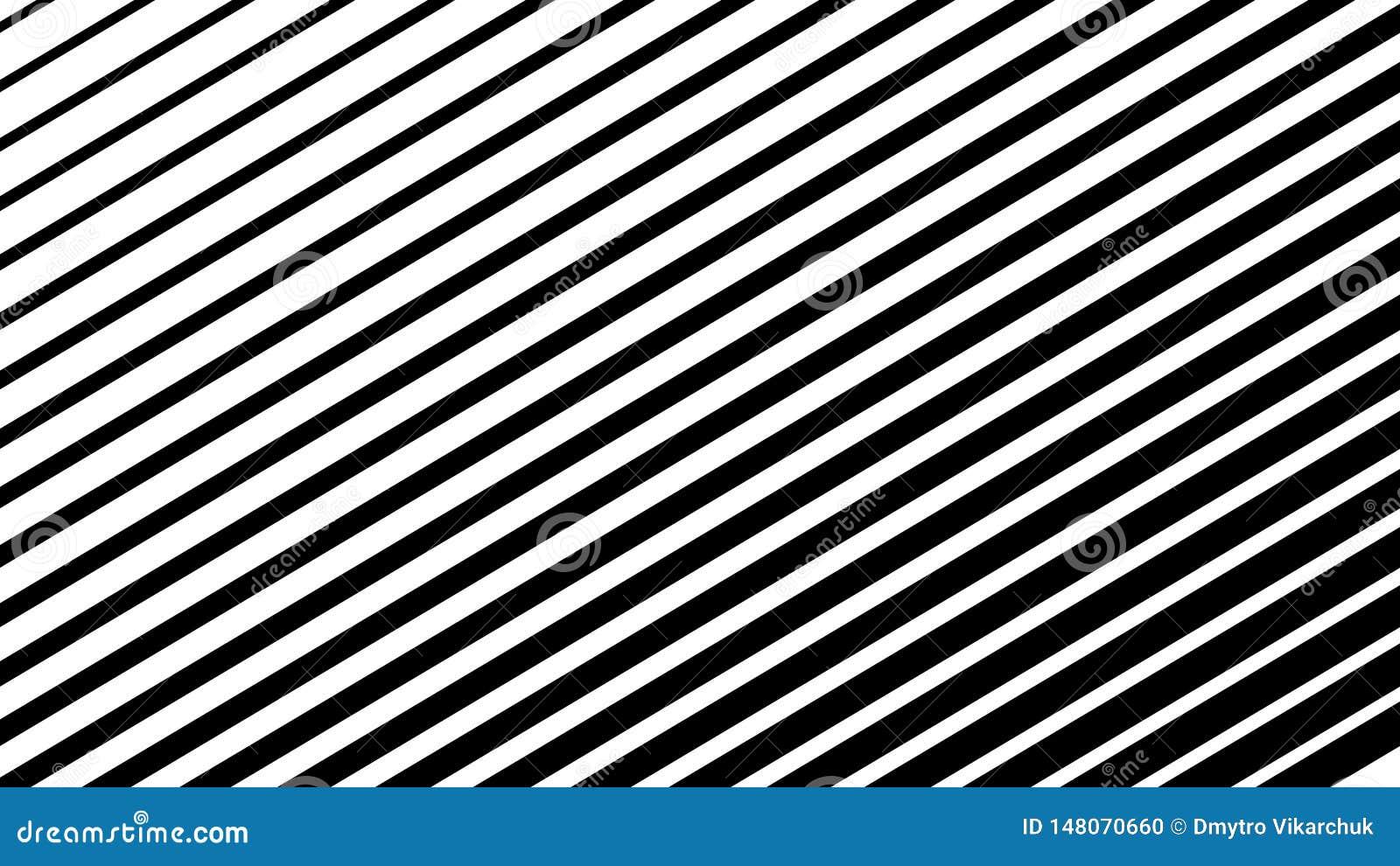 Optische illusie Abstracte lijnenachtergrond Geometrische zwart-wit Het patroon van de lijn Eps10 Vector