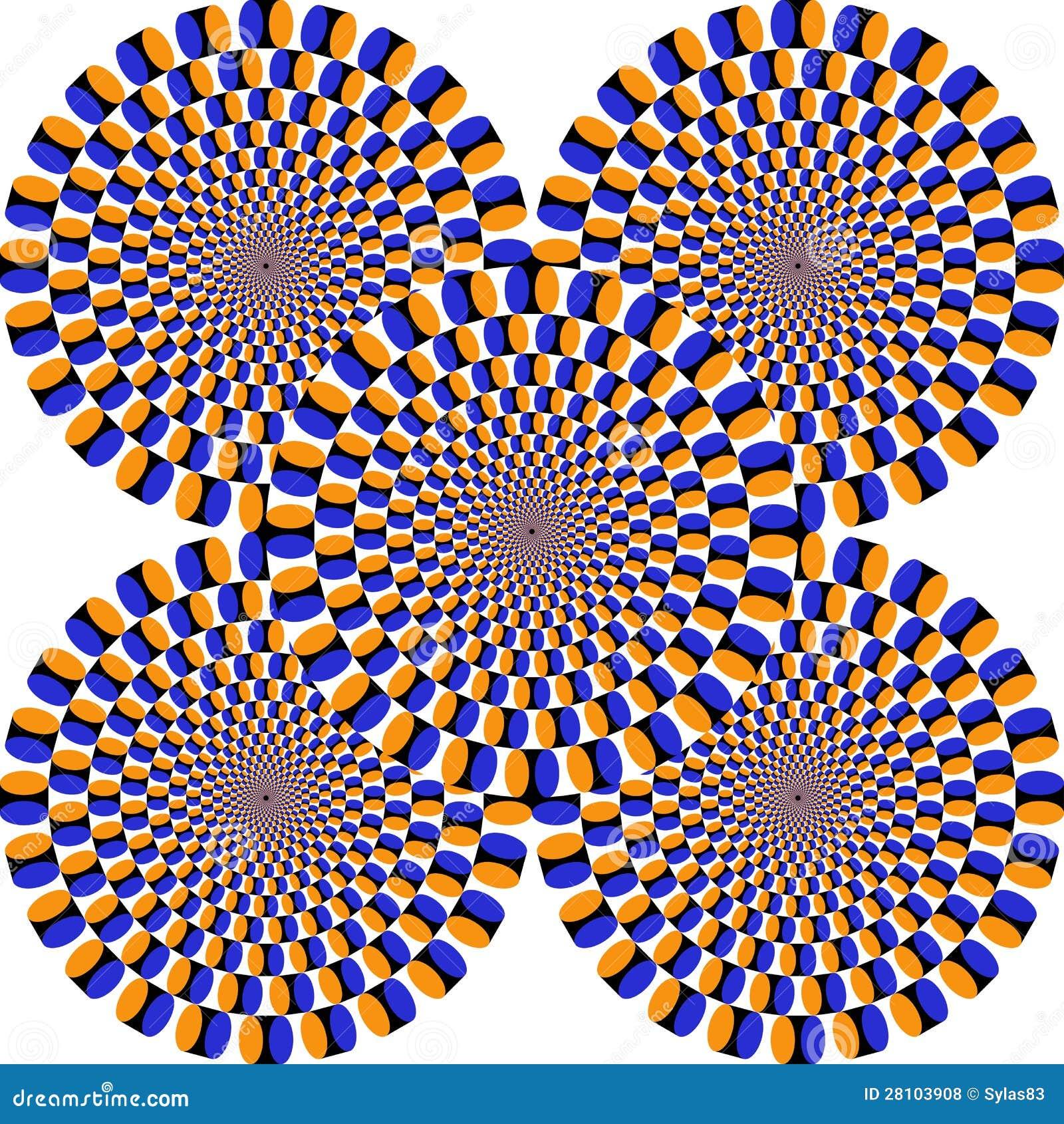 Optische illusie, kleurrijke blokken