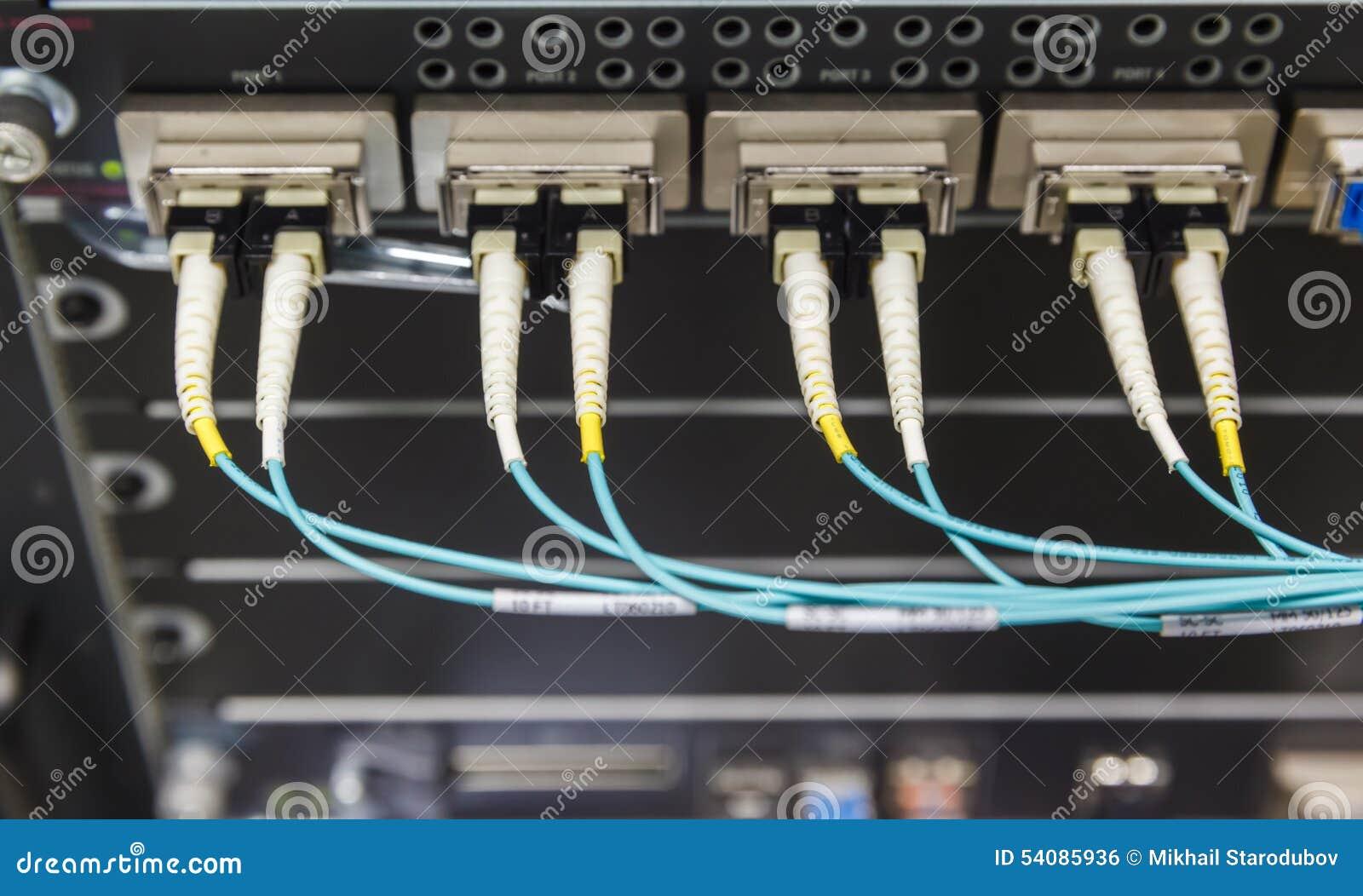 Optische schakelaar en colorfull FC-kabels
