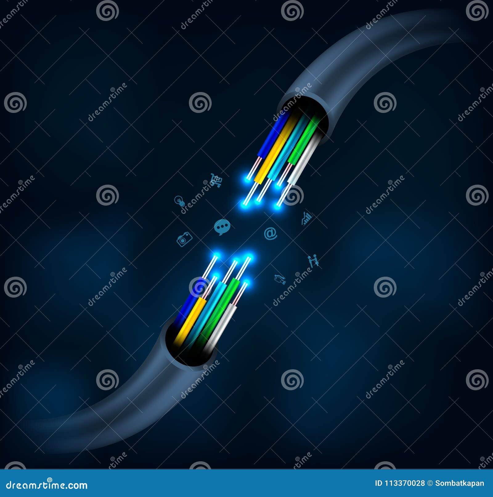 Optisk anslutning för fiber
