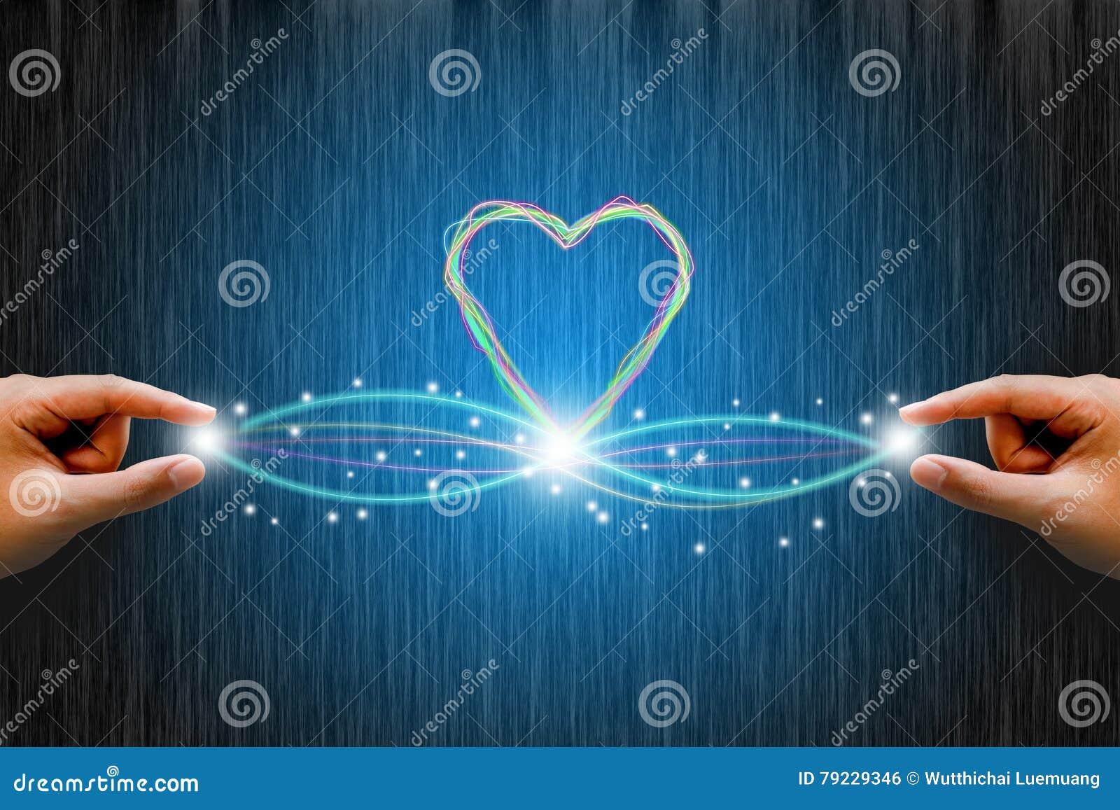 Optisk anslutning för fiber med linjen hjärta man för begreppskyssförälskelse till kvinnan