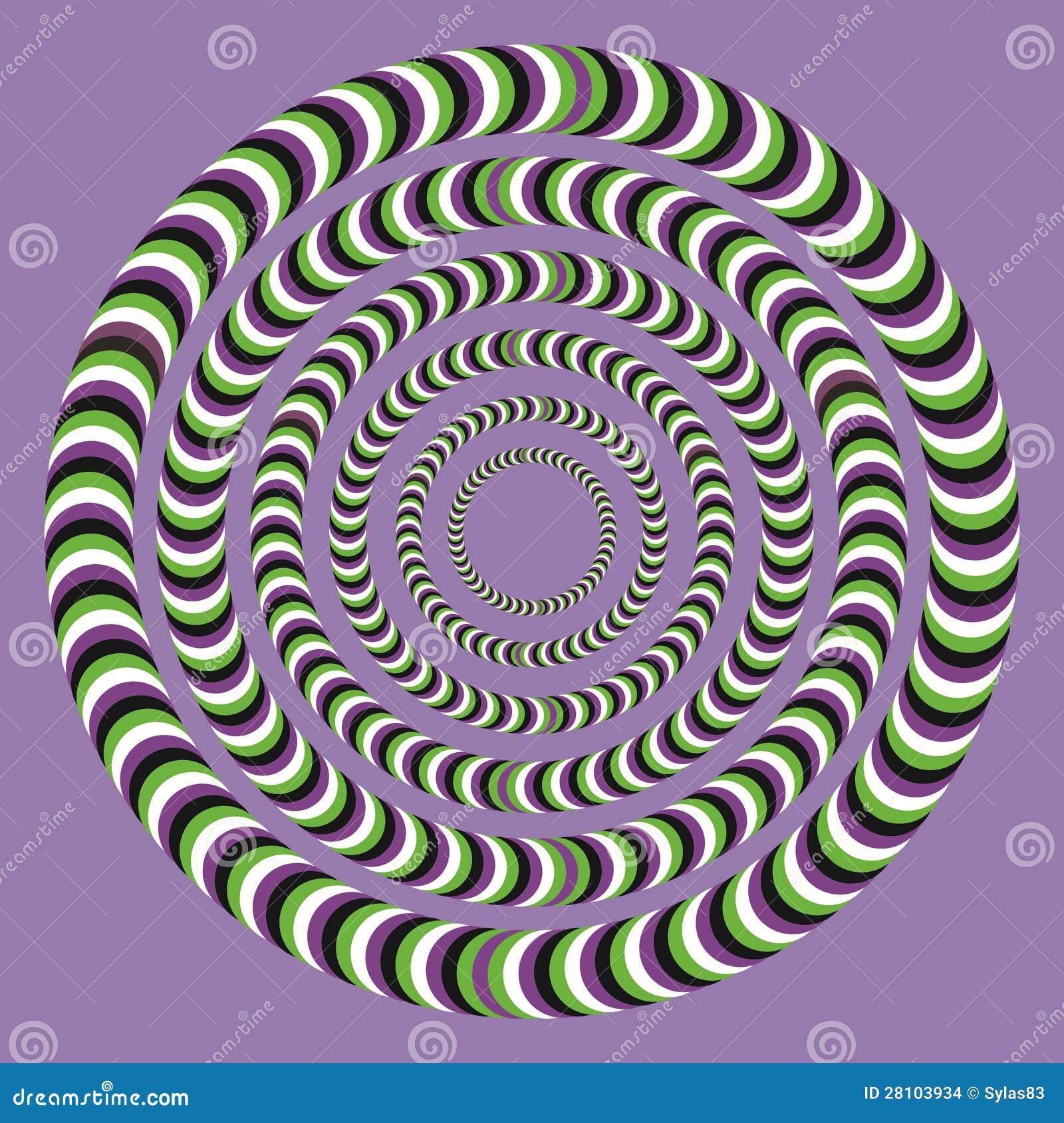Optisk illusion, färgrika kvarter