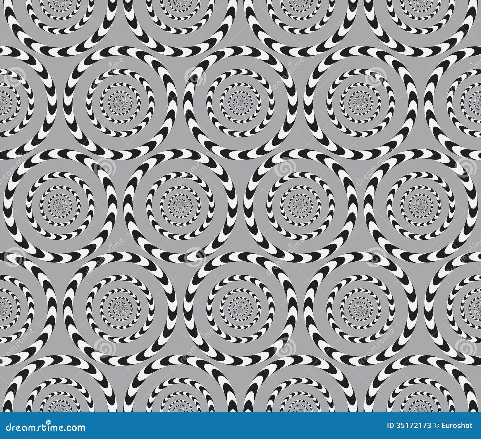 Optisk illusion, sömlös modell för vektor.