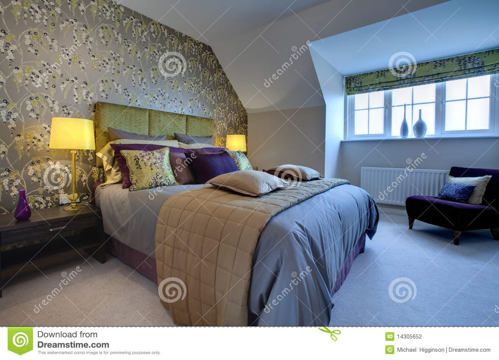 Opulent modern bedroom stock photo image of modern for Opulent bedrooms
